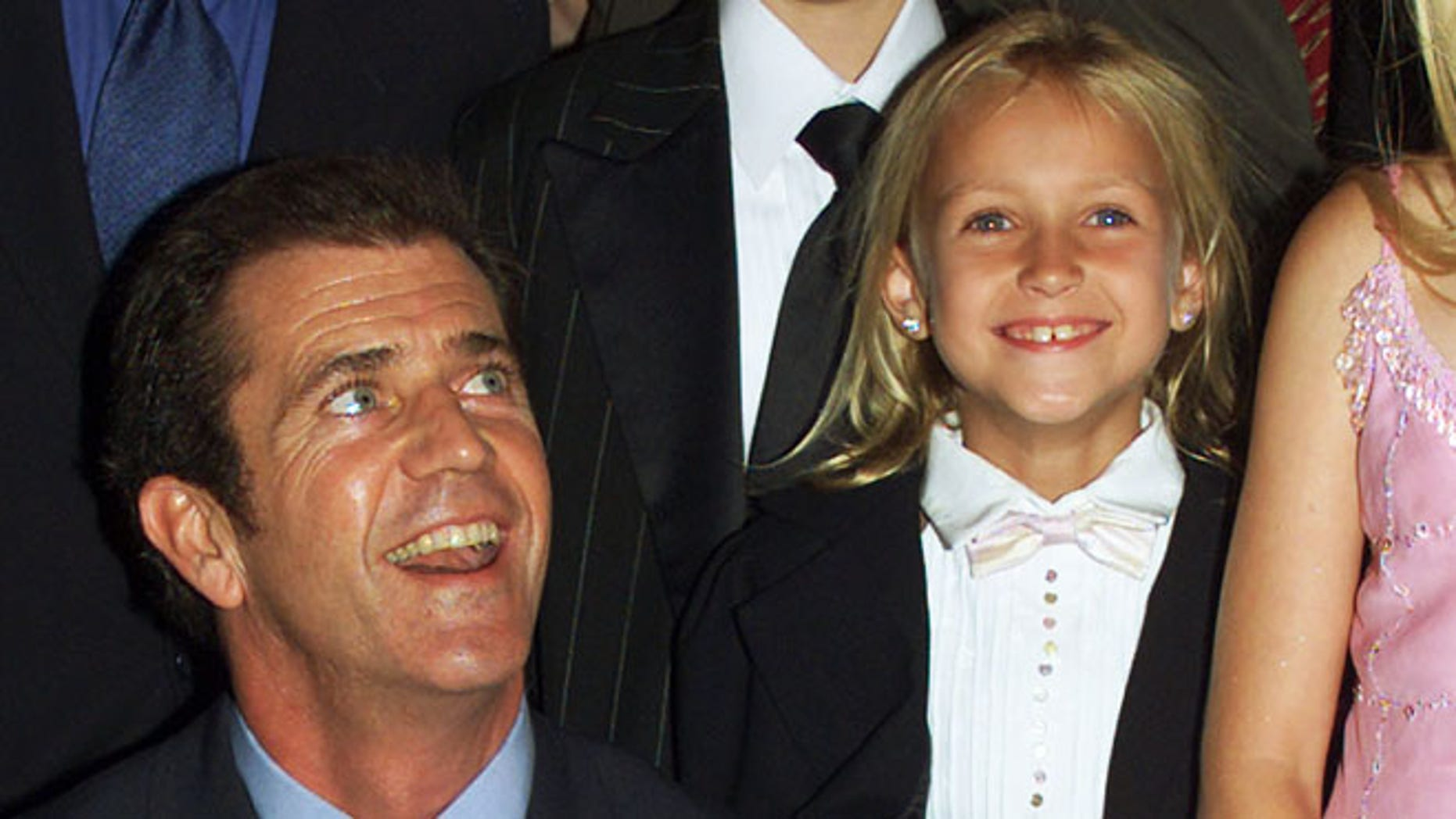 Mel Gibson and actress Skye McCole Bartusiak at 'The Patriot' premiere on June 27, 2000.