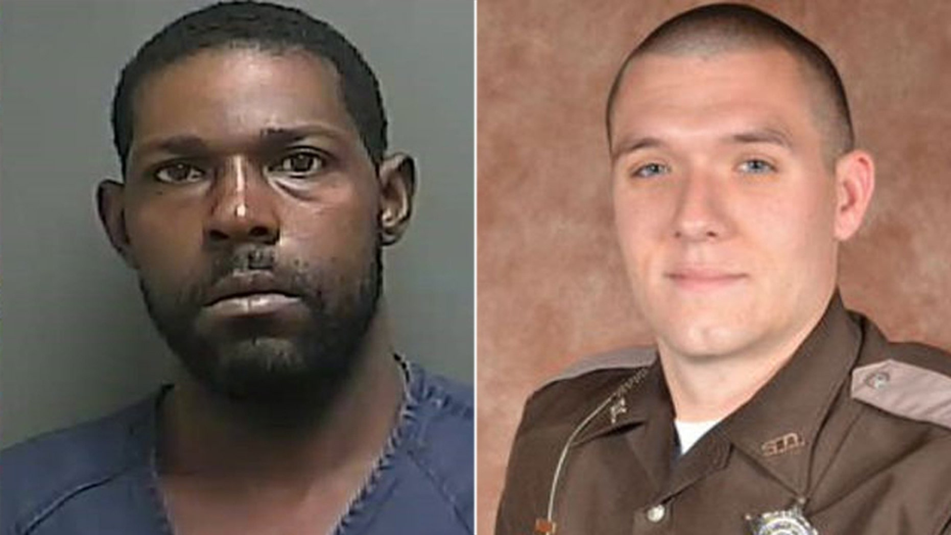 Bryson Small, left, reportedly assaulted the mother and sister of slain Howard County Deputy Carl Koontz, right.