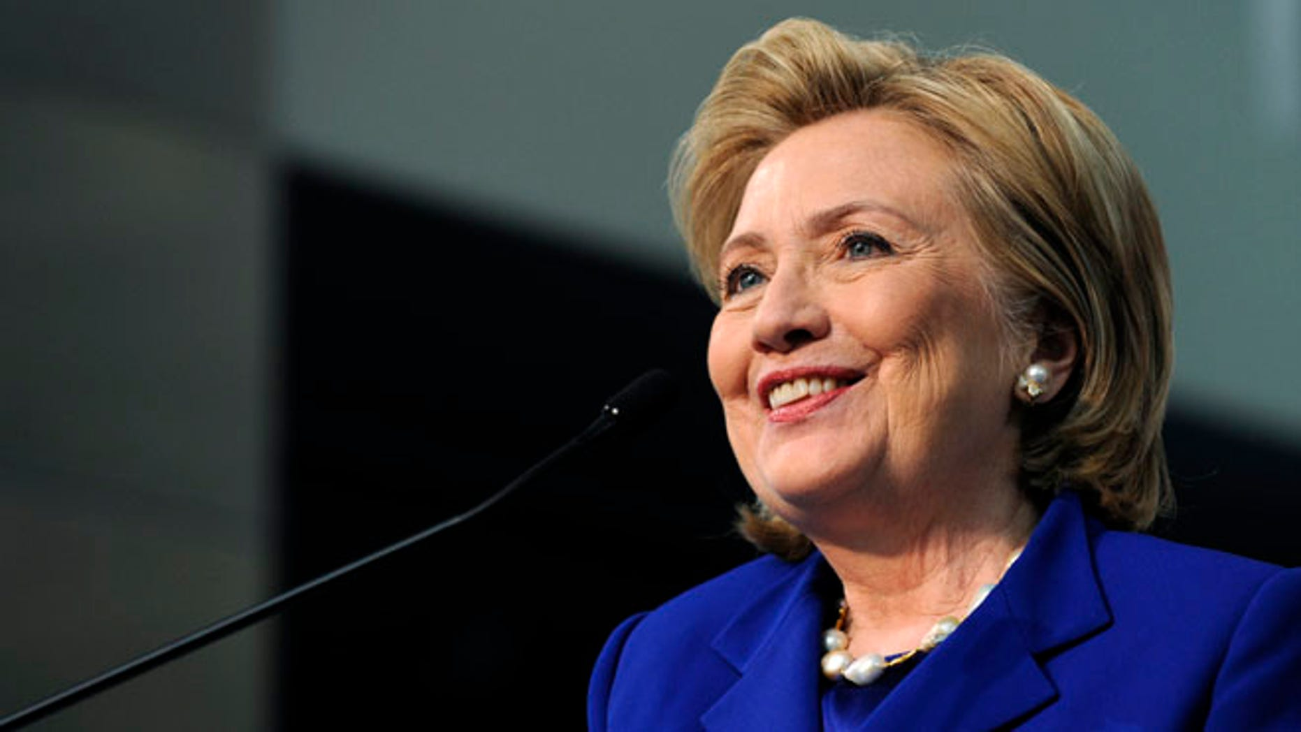 Former Secretary of State Hillary Clinton on Tuesday, June 17, 2014, during a ceremony at the Smithsonian's National Museum of American History in Washington.