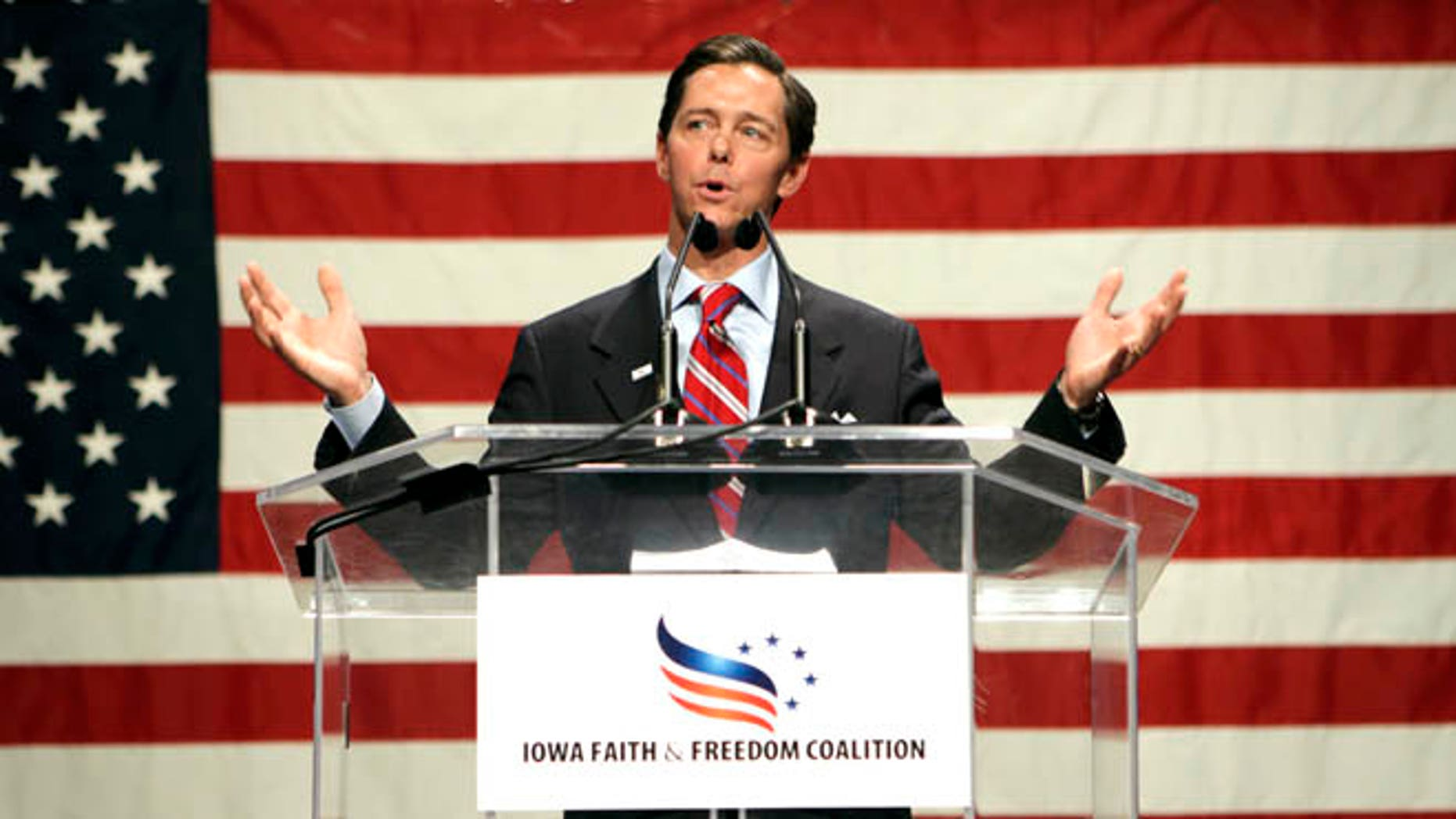 March 7, 2011. Ralph Reed, president of the national Faith & Freedom Coalition, speaks at the Iowa Faith and Freedom Coalition forum at the Point of Grace Church in Waukee, Iowa. The Faith and Freedom Coalition launches a conference Thursday, June 13, 2013, designed to strengthen the evangelical influence in national politics, while giving many religious conservative activists their first look at potential 2016 presidential candidates.