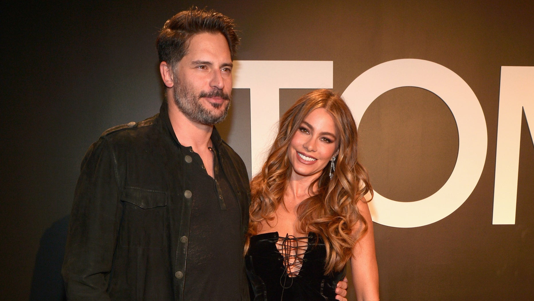 LOS ANGELES, CA - FEBRUARY 20:  Actress Sofia Vergara (R), wearing TOM FORD, and actor Joe Manganiello attend the TOM FORD Autumn/Winter 2015 Womenswear Collection Presentation at Milk Studios in Los Angeles on February 20, 2015.  (Photo by Charley Gallay/Getty Images for Tom Ford)
