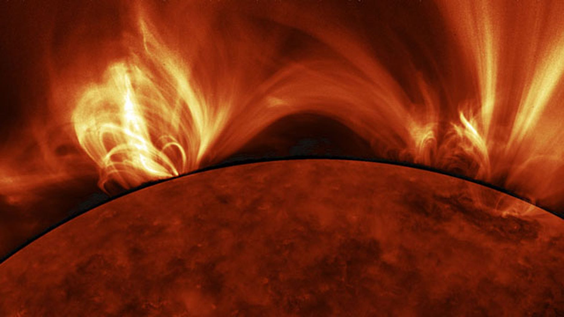 This zoomed-in image shows how the Sun's magnetic field shapes hot coronal plasma. Photos like this highlight the ever-changing connections between gas captured by the Sun's magnetic field and gas escaping into interplanetary space.