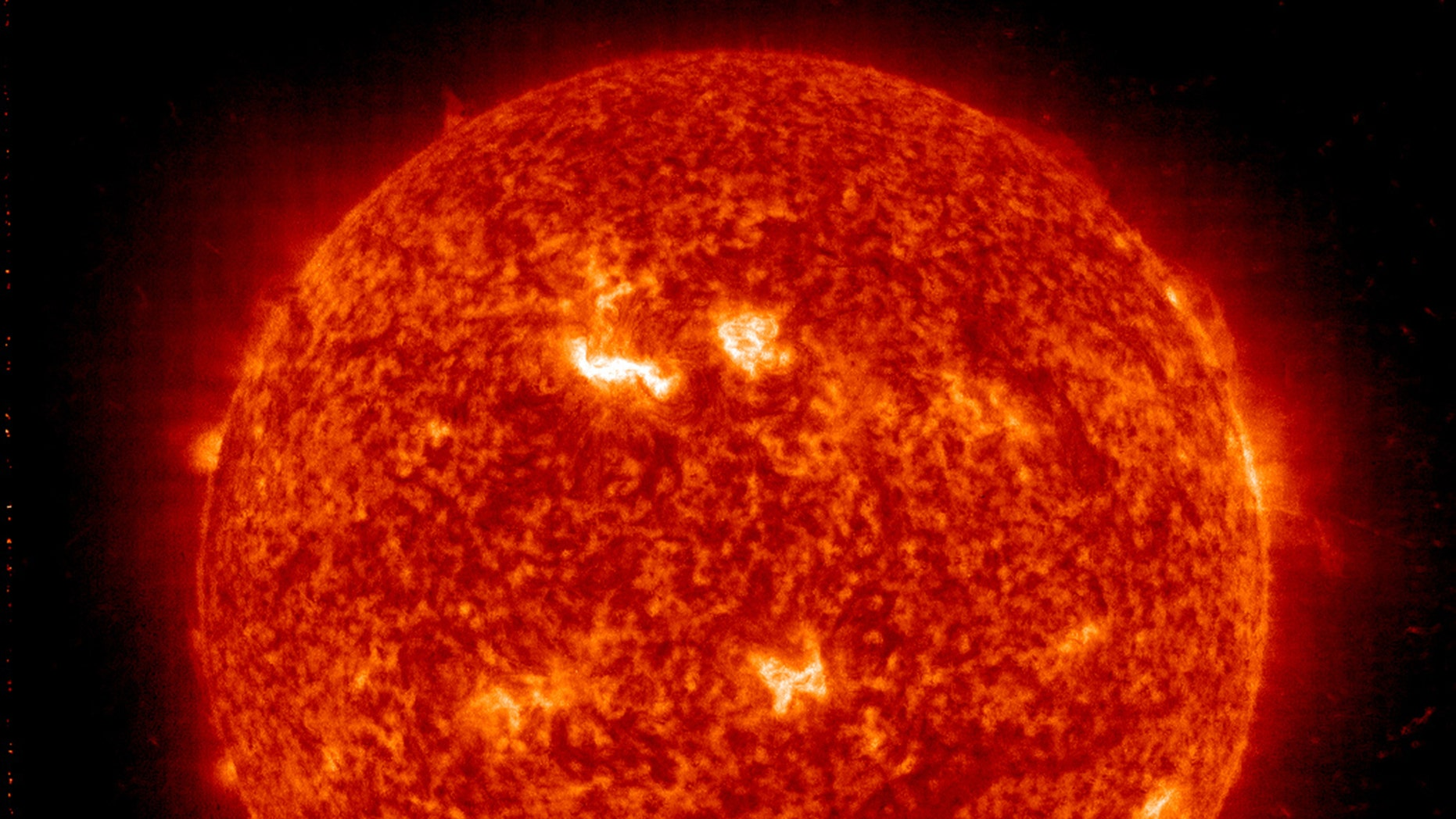 File photo - NASA handout image shows the Sun acquired by the Solar and Heliospheric Observatory on March 8, 2012.