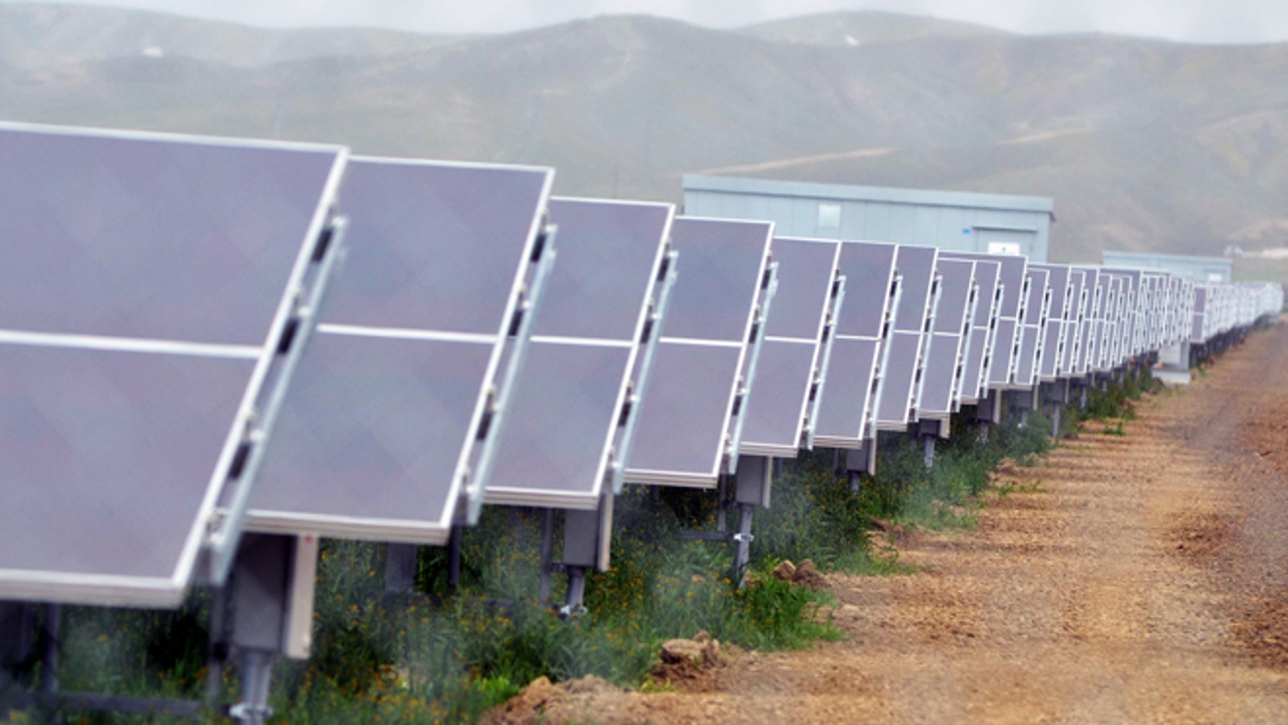 Aug. 3, 2011: In this file photo, solar panels are seen at the NRG Solar and Eurus Energy America Corp.s 45-megawatt solar farm in Avenal, Calif.
