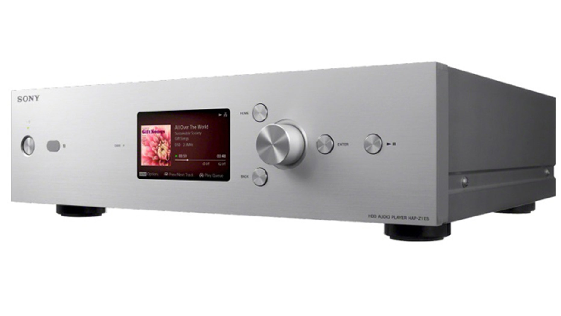 The Sony HAP-Z1ES, a music player that can handle high-resolution DSD audio files and won an Innovation award at the 2014 CES.