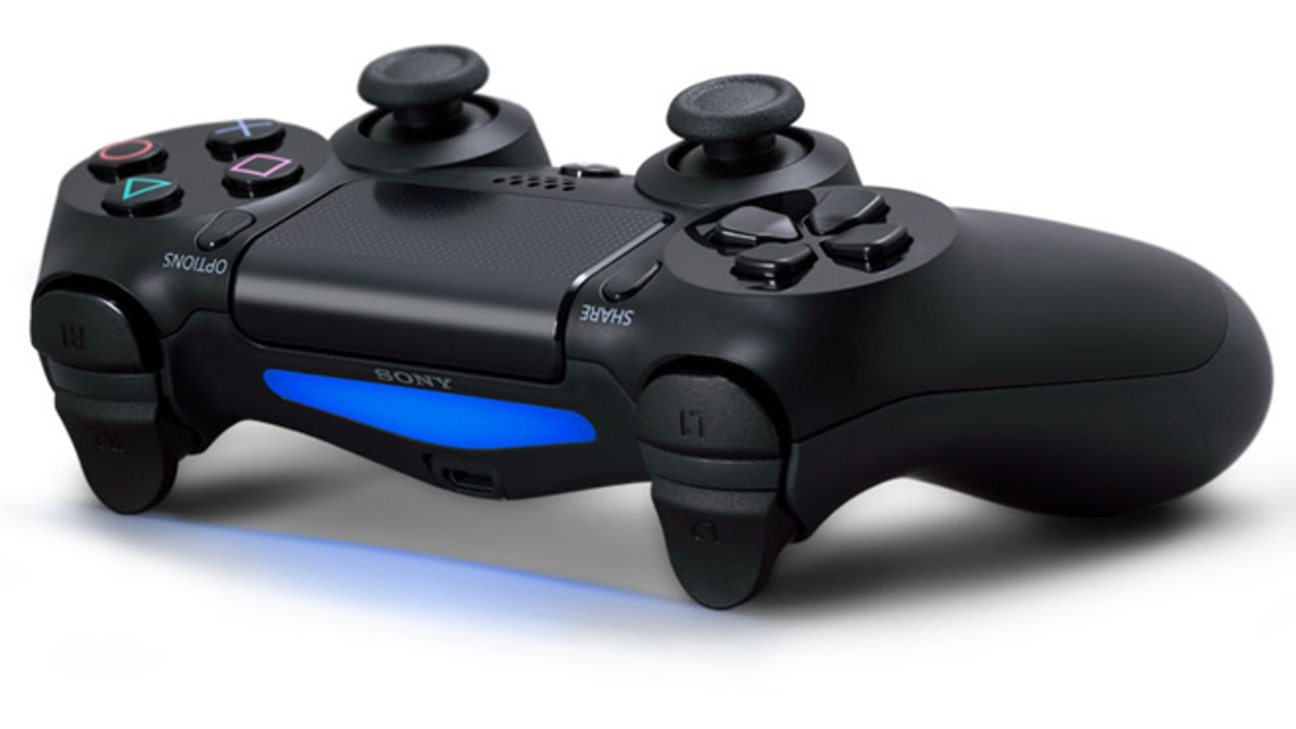 """The new DualShock 4 controller for the PS4 has new """"options"""" and """"share"""" buttons -- but how they'll be used remains to be seen."""