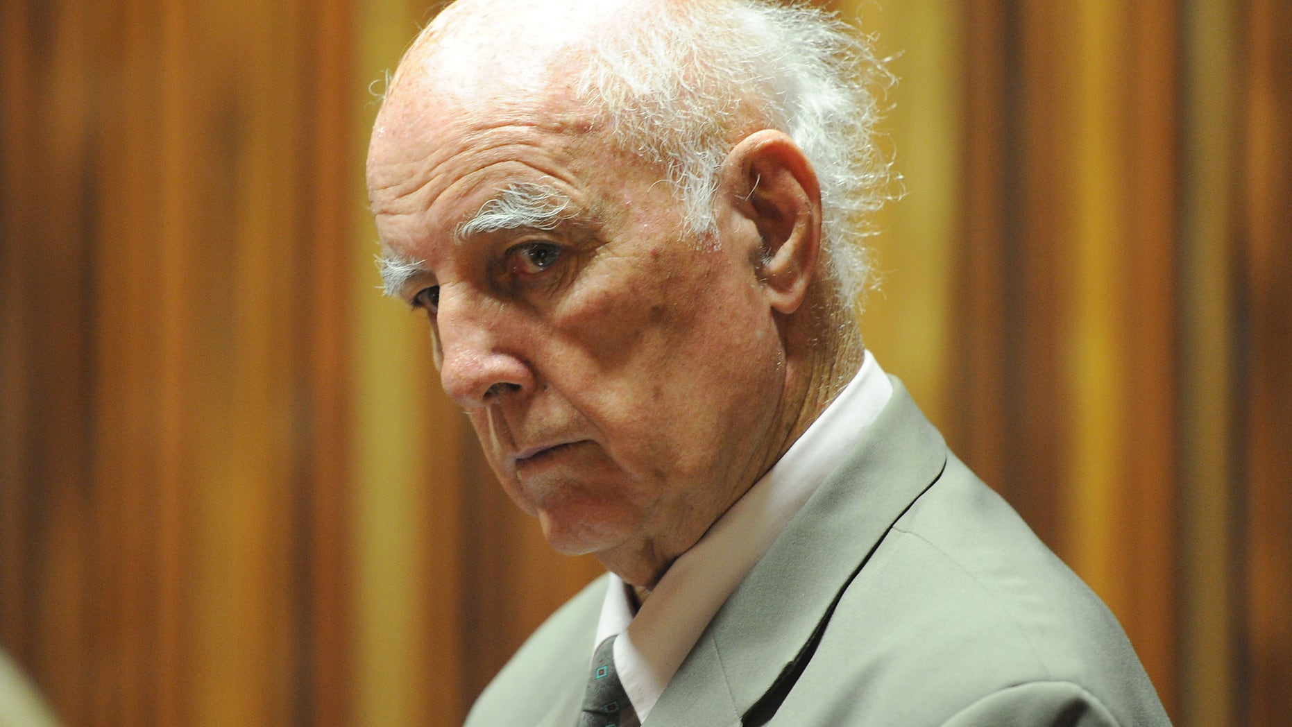 March 23, 2015 - Retired tennis player Bob Hewitt in court east of Johannesburg, South Africa. Hewitt, a former Grand Slam doubles tennis champion, was convicted of rape and sexual assault decades after the alleged assaults.