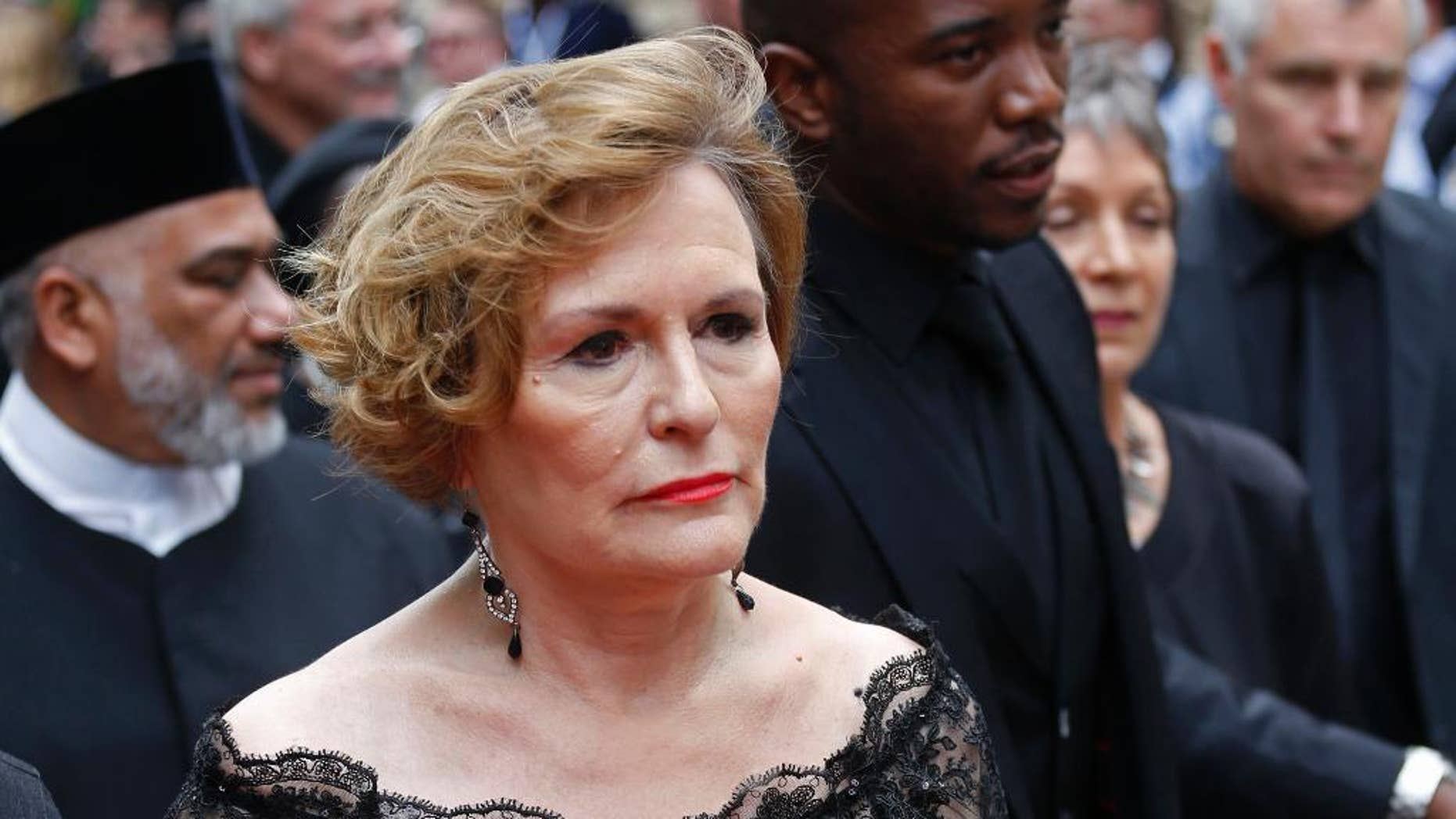 FILE - In this Thursday, Feb. 12, 2015 file photo Democratic Alliance leader, Helen Zille, arrives for the opening of Parliament in Cape Town, South Africa. Zille announced on Sunday, April 12, 2015 that she would not stand for re-election in the party's upcoming congress in May this year. (AP Photo/Schalk van Zuydam, File)