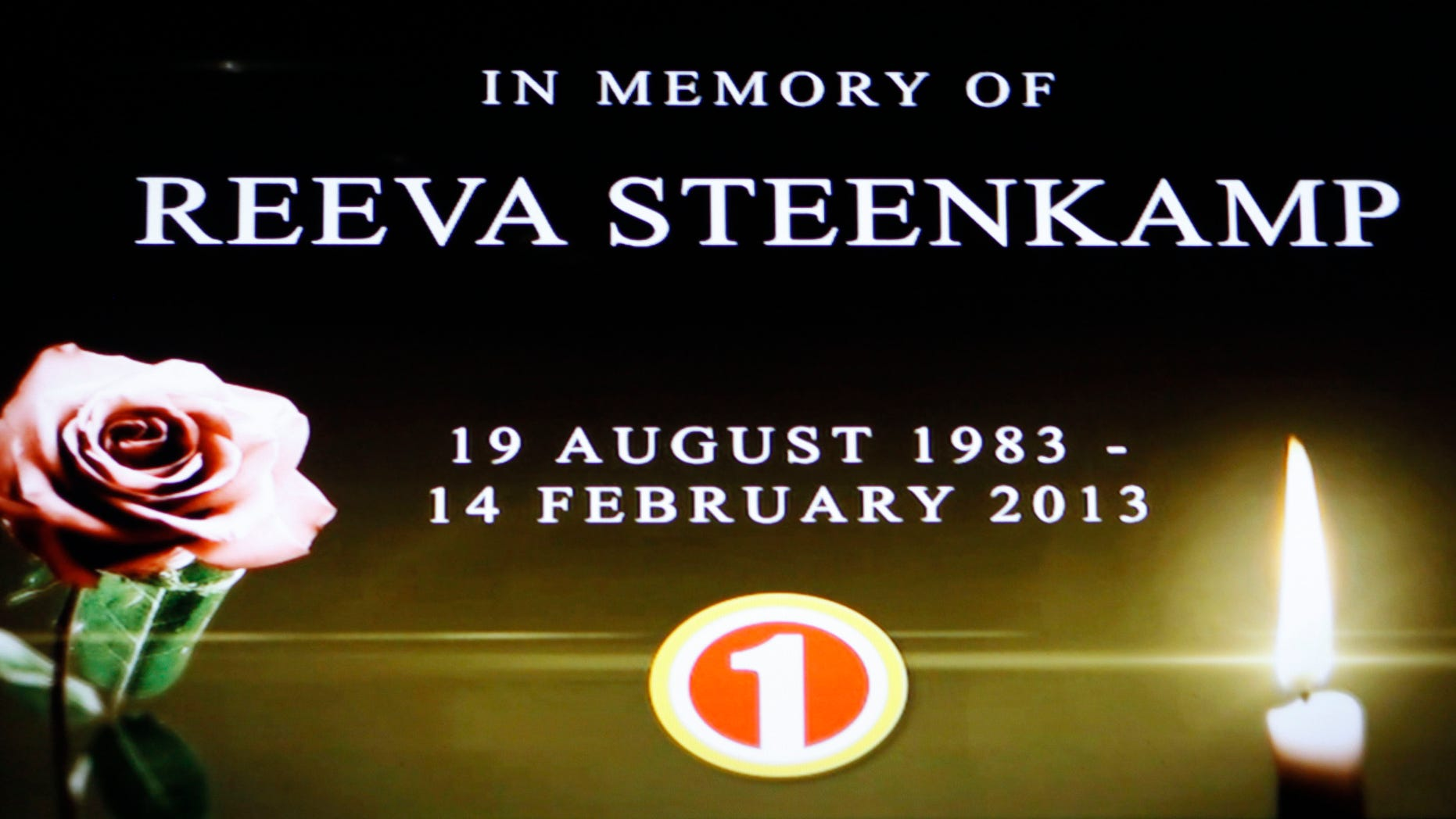 """In this frame-grab from state television channel SABC 1 a tribute is devoted to slain model Reeva Steenkamp, girlfriend of Olympic athlete Oscar Pistorius. South Africas national broadcaster went ahead with the screening of  the  reality TV show """"Tropica Island of Treasure"""" Saturday, Feb 16, 2013, featuring the dead model. Steenkamp encouraged her family to watch in one of her last conversations with them before her shooting death at the  home of Pistorius. (AP Photo/Denis Farrell)"""
