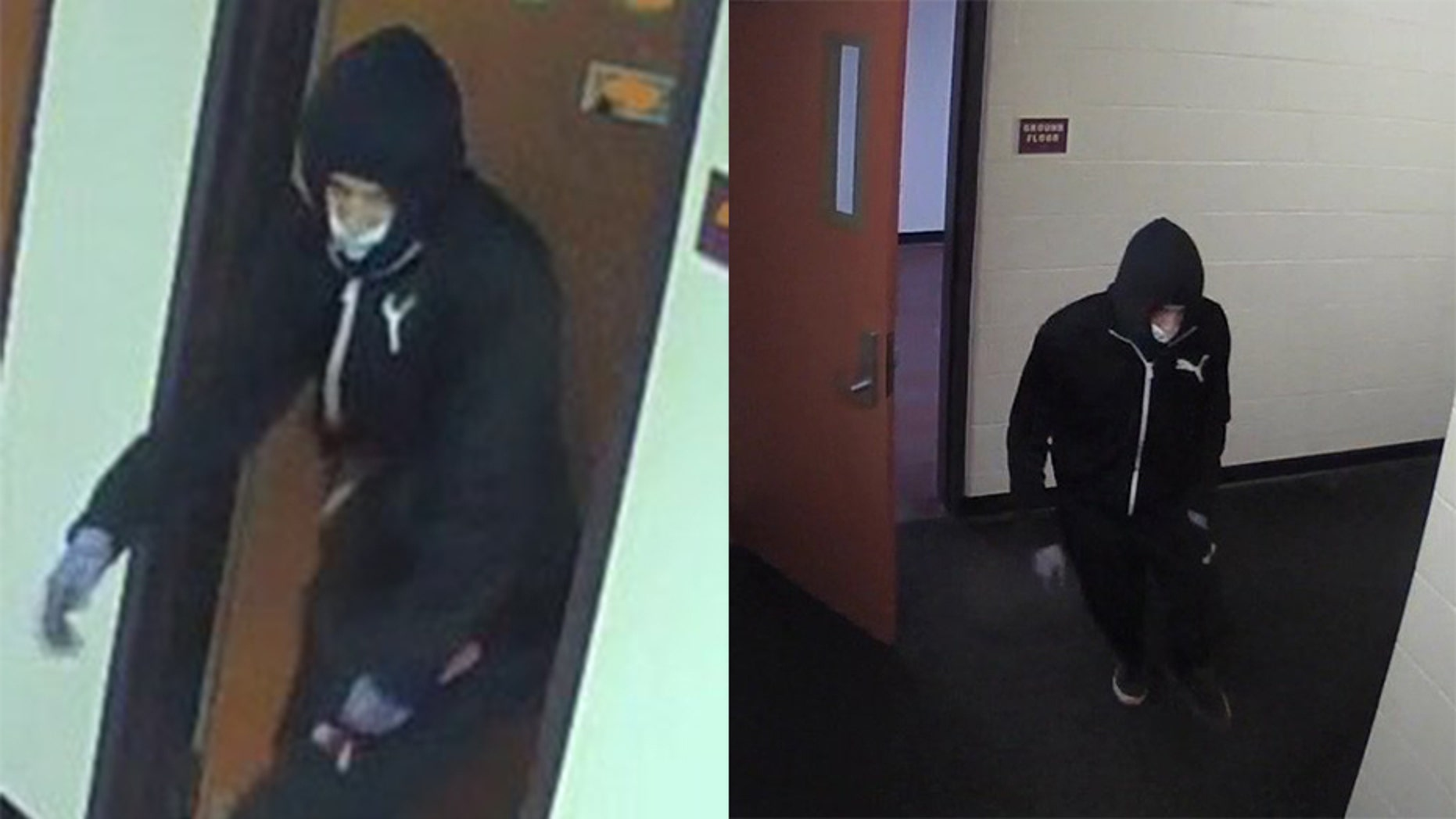 Binghamton University police released images of a suspect in the deadly stabbing of a 19-year-old student in a campus dorm room Sunday.