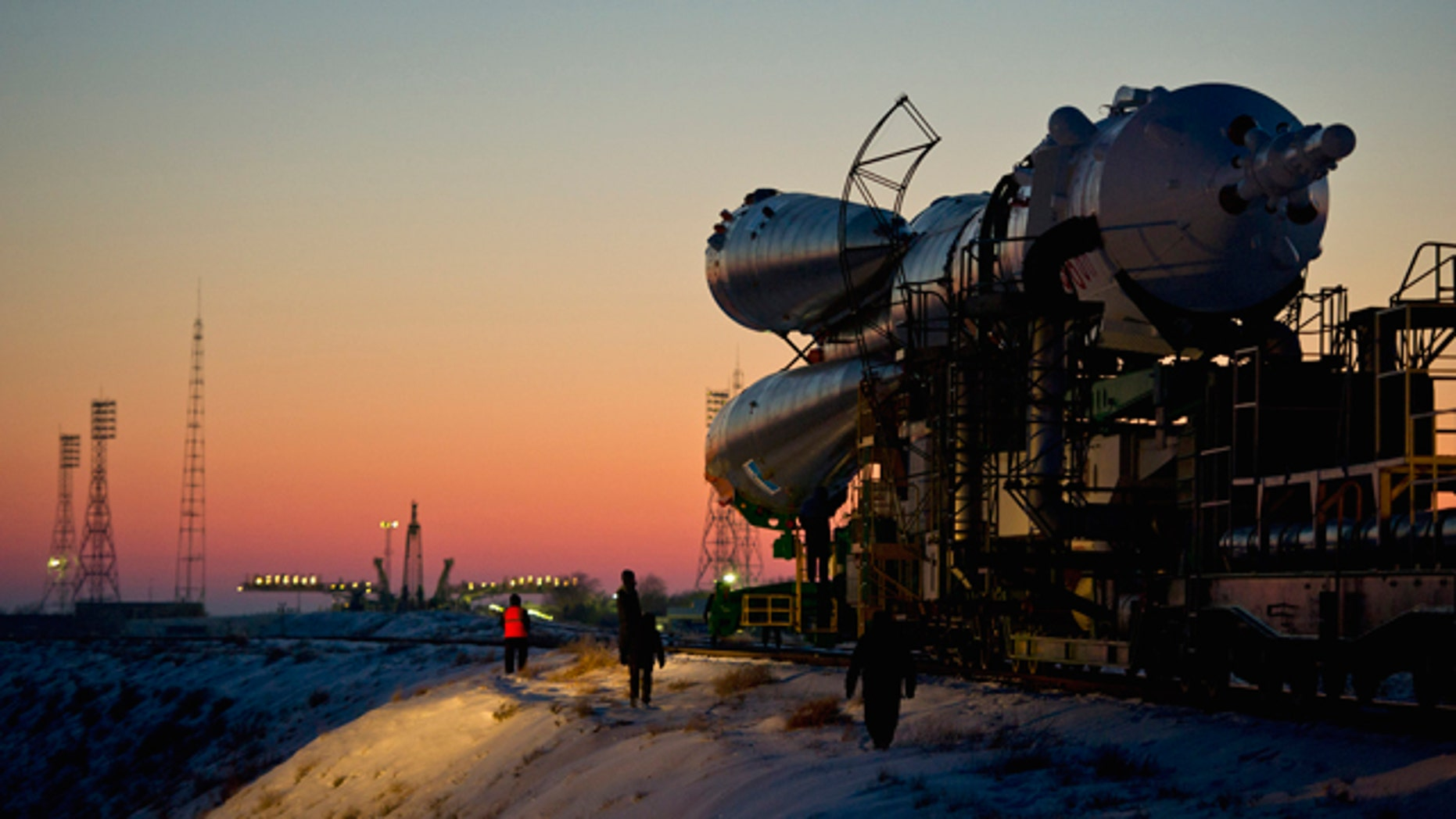 Dec. 21, 2011: A Soyuz rocket shown here blasted off on Wednesday, carrying a new crew to the International Space Station. Two days later, a Soyuz-2 -- an upgraded version of the workhorse Soyuz rocket -- carrying a communications satellite suffered a malfunction and crashed.