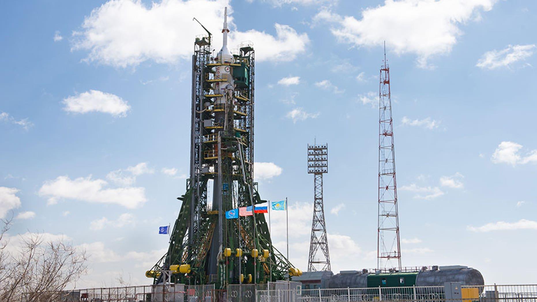 The Soyuz TMA-20M Rocket Ready for Liftoff