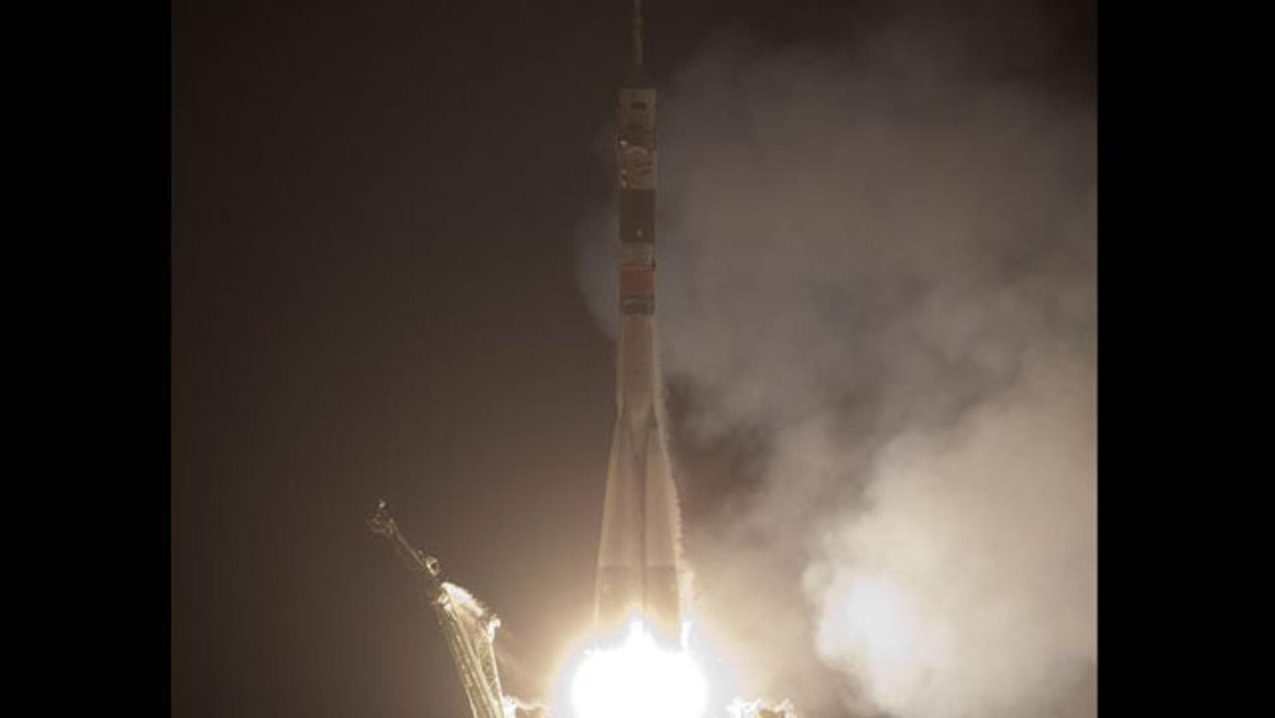 The Soyuz TMA-17 rocket launches from the Baikonur Cosmodrome in Kazakhstan at 4:52 p.m. EST on Sunday, Dec. 20, carrying Expedition 22 NASA Flight Engineer Timothy J. Creamer of the U.S., Soyuz Commander Oleg Kotov of Russia and Flight Engineer Soichi Noguchi of Japan to the International Space Station.