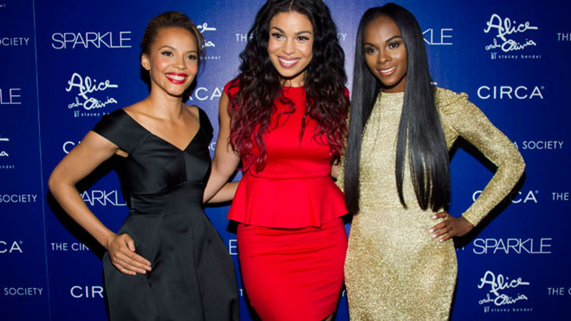 """L to R: Carmen Ejogo, Jordin Sparks and Tika Sumpter attend a screening of """"Sparkle"""" hosted by The Cinema Society with Circa and Alice & Olivia on Tuesday, Aug. 14, 2012 in New York."""