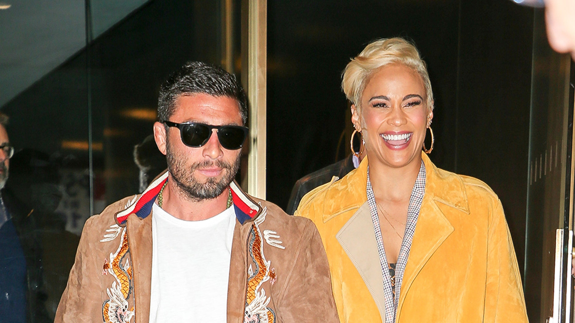 "Paula Patton and boyfriend Zachary Quittman were spotted all smiling while leaving the ""Today Show"" in New York City."