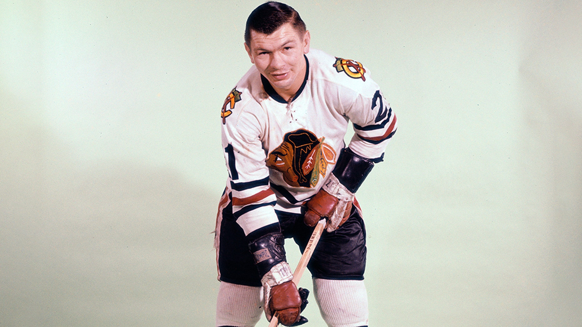 Stan Mikita played for the Chicago Blackhawks for all 22 years of his National Hockey League career.