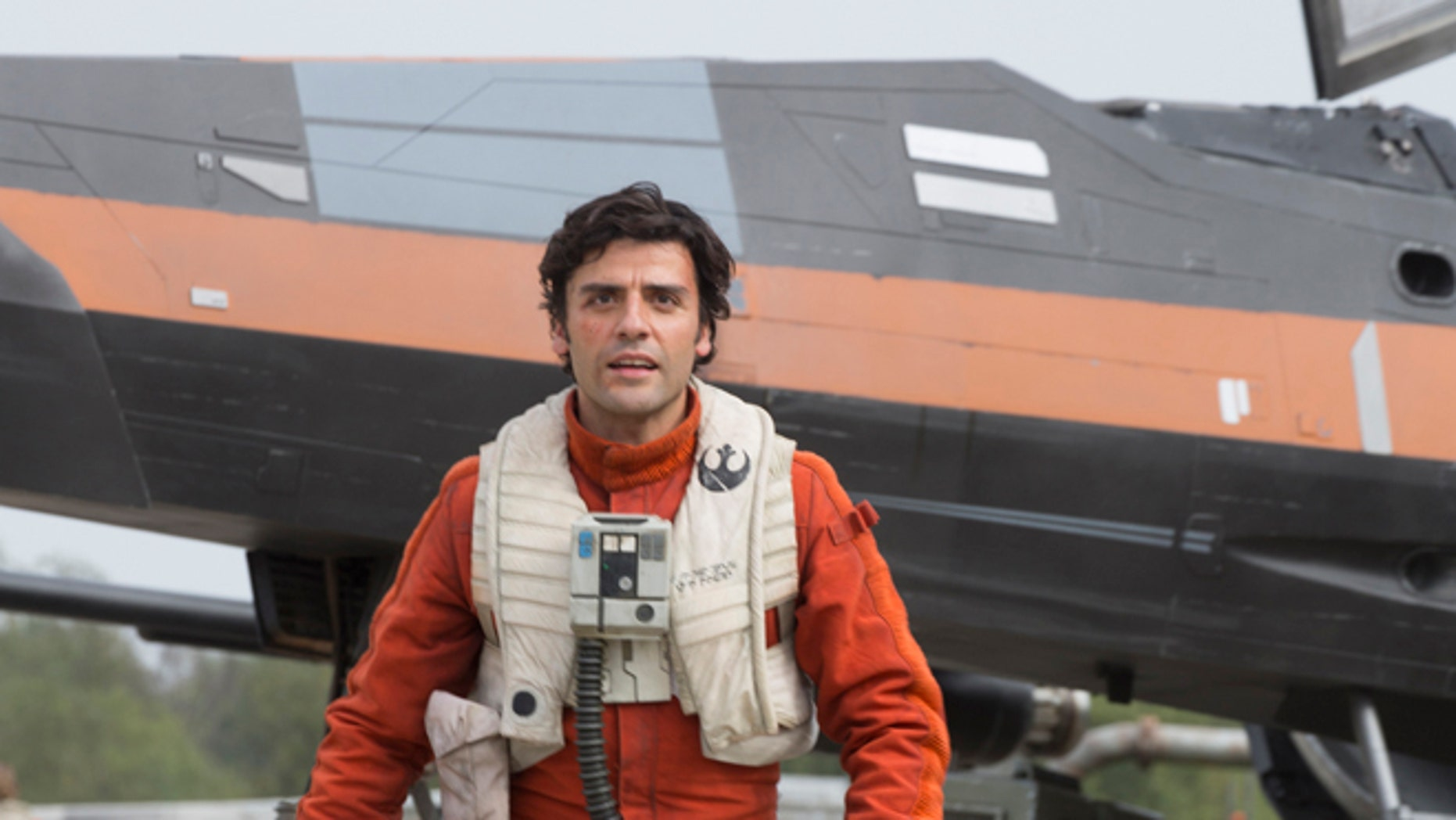 Oscar Isaac as Poe Dameron in a scene from 'Star Wars: The Force Awakens.'
