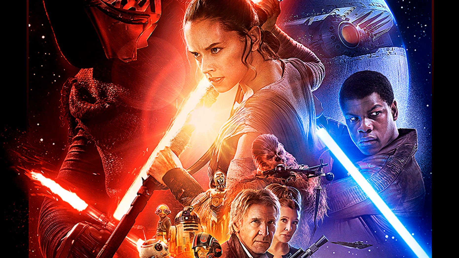 "Poster for the new film, ""Star Wars: The Force Awakens."" ""Star Wars""."