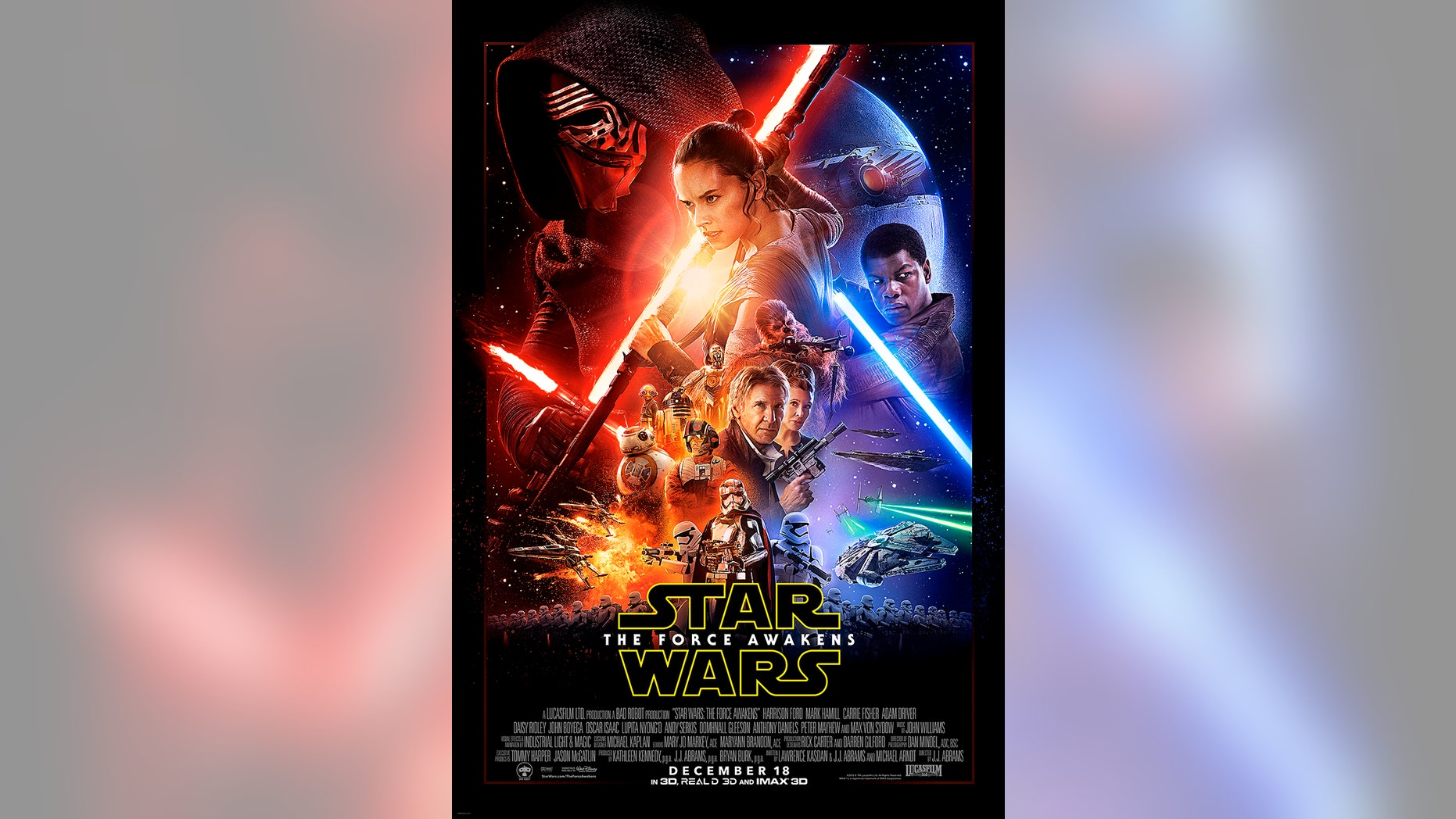 """Poster for the new film, """"Star Wars: The Force Awakens."""" """"Star Wars""""."""