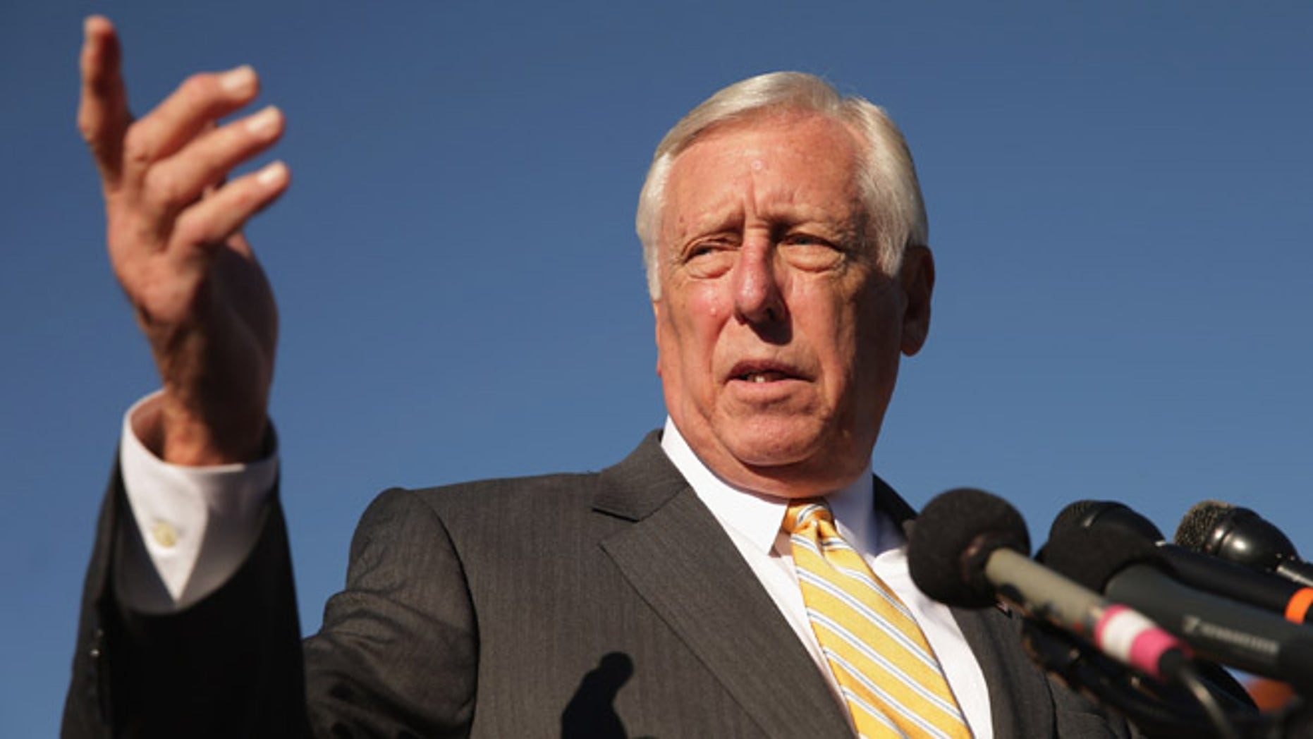 WASHINGTON, DC - NOVEMBER 12:  House Minority Whip Steny Hoyer (D-MD) joins veterans, servicemembers and aspiring recruits to call on Congress and President Barack Obama  to move forward with immigration reform at the U.S. Capitol November 12, 2014 in Washington, DC. The news conference participants called on Obama to 'go bold and go big' and to use his executive authority to reform immigratoin if Congress could not get the job done.  (Photo by Chip Somodevilla/Getty Images)