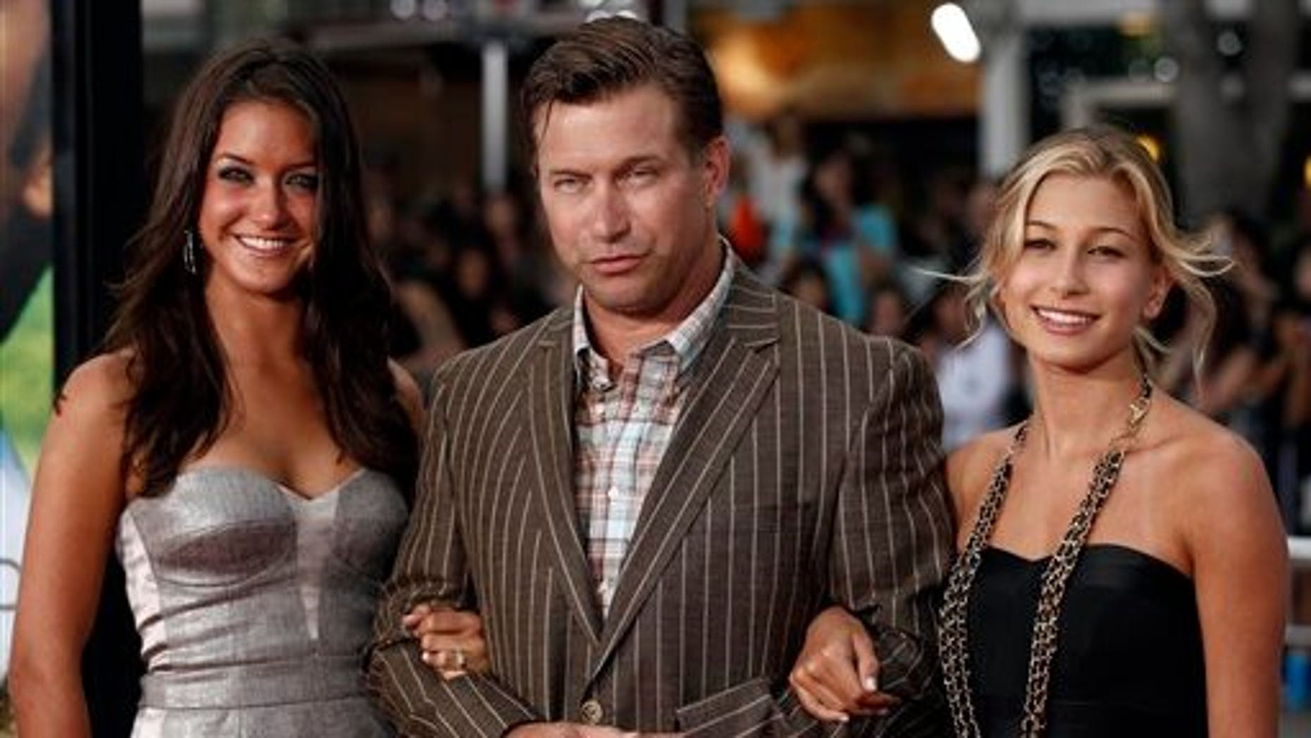 """Actor Stephen Baldwin, center, and his daughters Alaia, left, and Hailey arrive at the premiere of """"Charlie St. Cloud"""" in Los Angeles, Tuesday, July 20, 2010. (AP Photo/Matt Sayles)"""