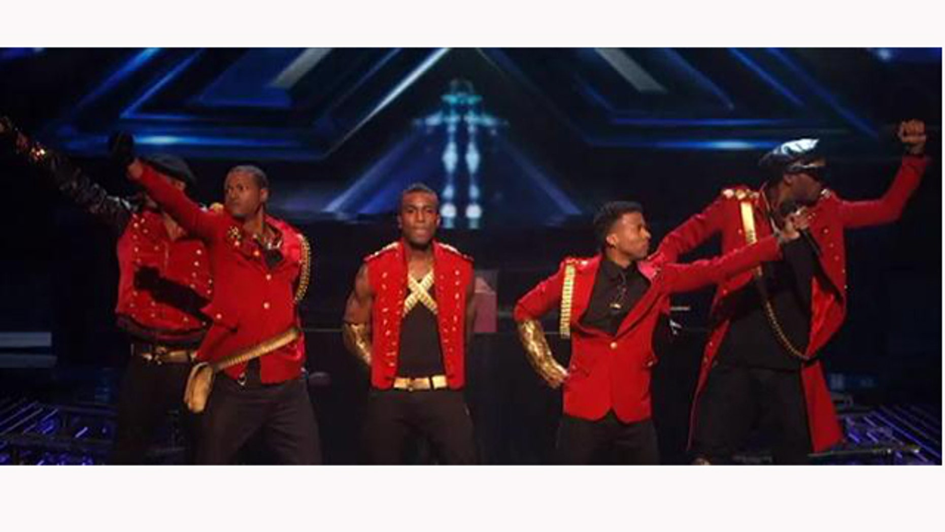 "Nov. 2, 2011: The Stereo Hoggz perform Janet Jackson's 1989 classic ""Rhythm Nation"" Wednesday night on The X-Factor."