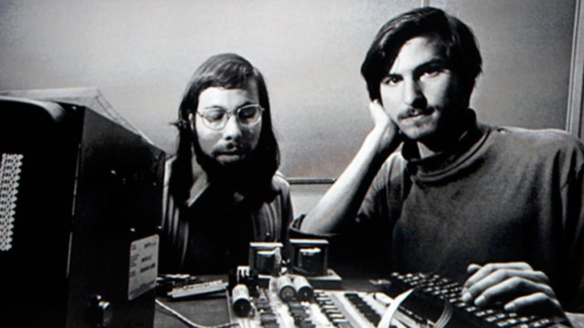 Apple co-founders Steve Jobs and Steve Wozniak.