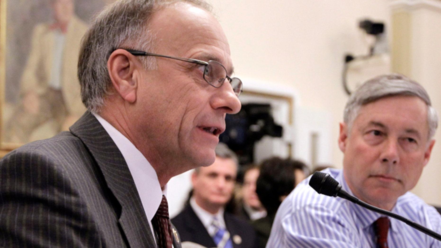 Jan. 2011: Republican Iowa Rep. Steve King testifies before the House Rules Committee.