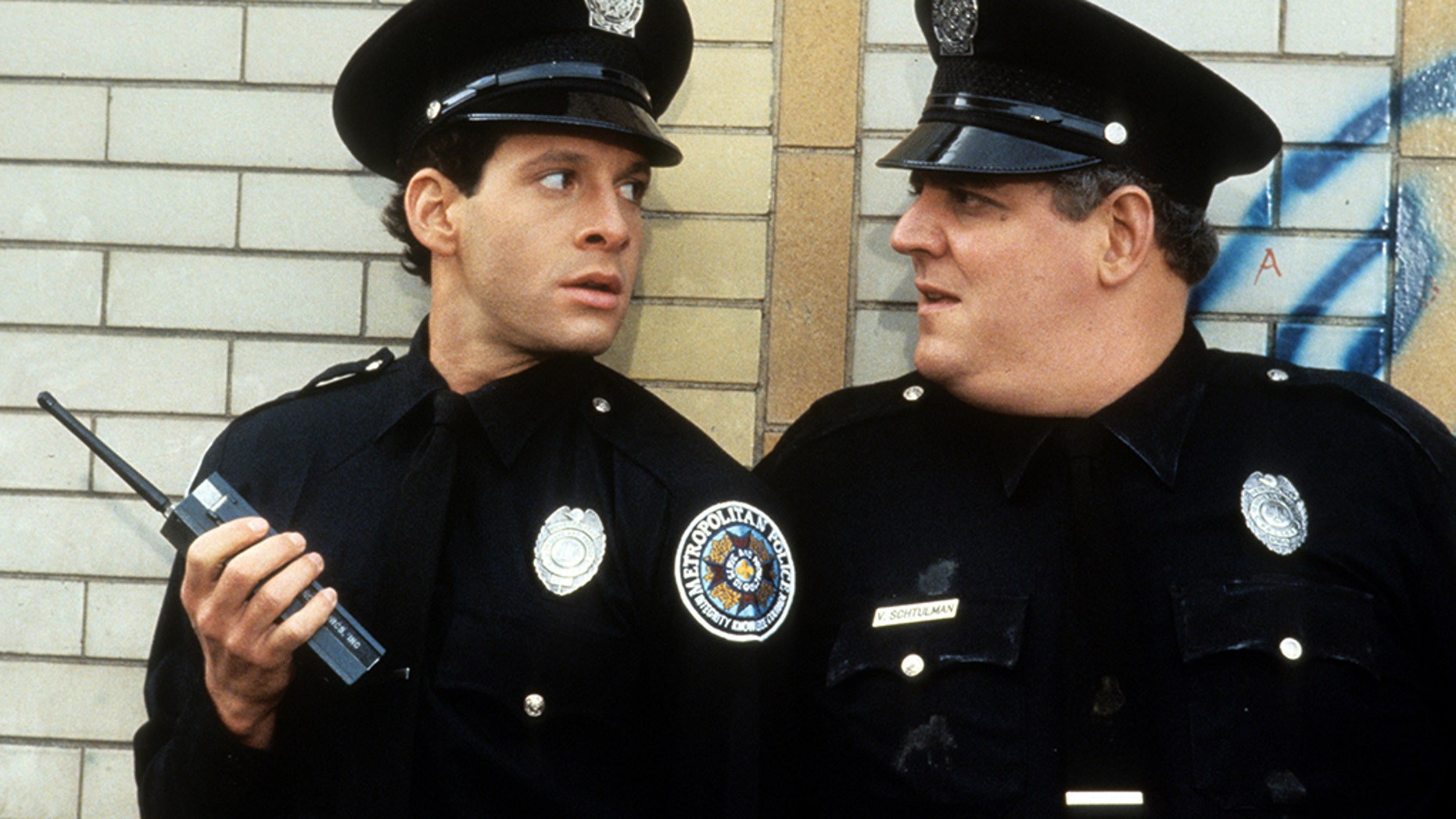 """Steve Guttenberg [left] in """"Police Academy 2: Their First Assignment"""" said another """"Police Academy"""" film was coming."""