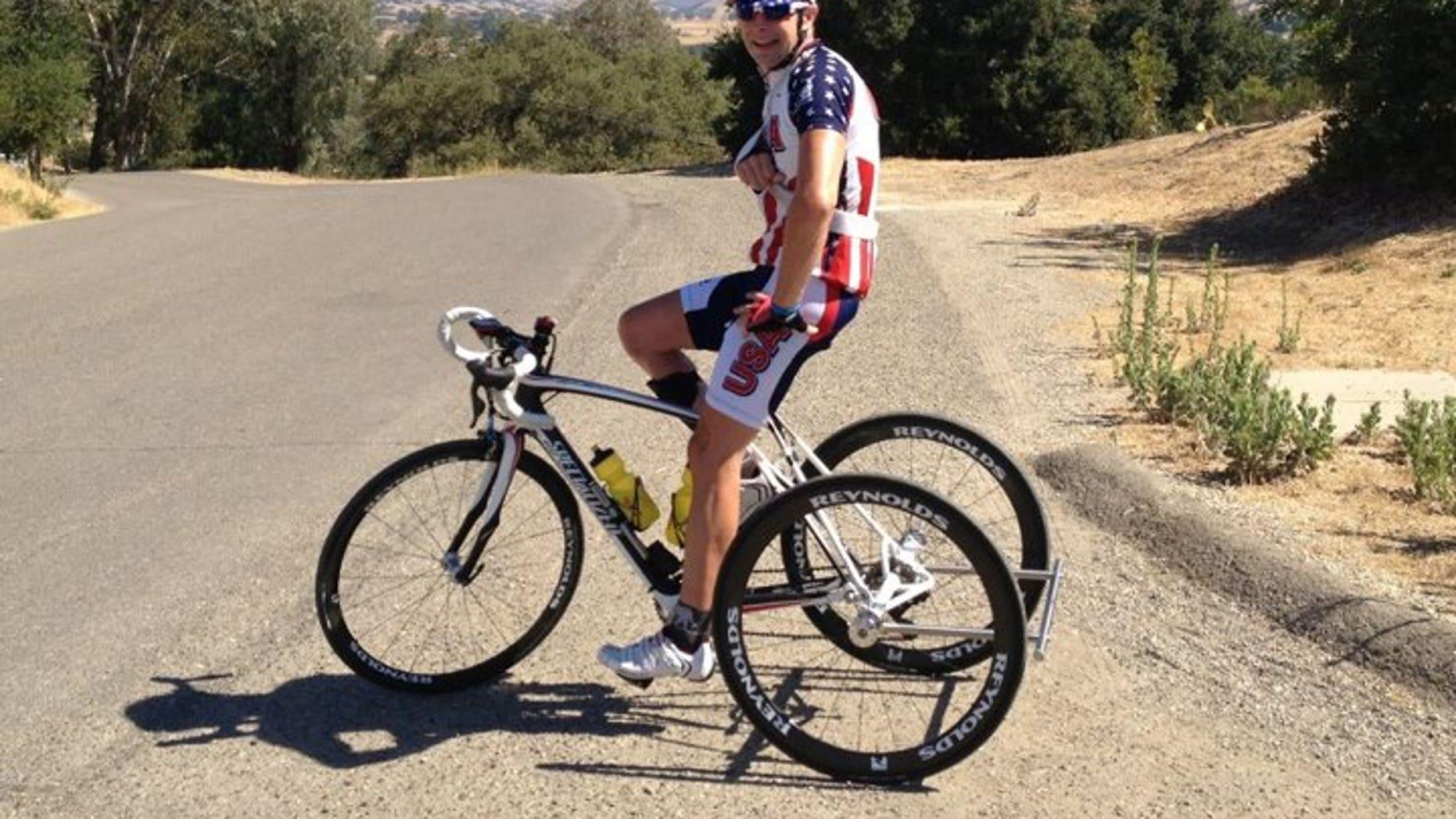 Steven Peace on his bike.