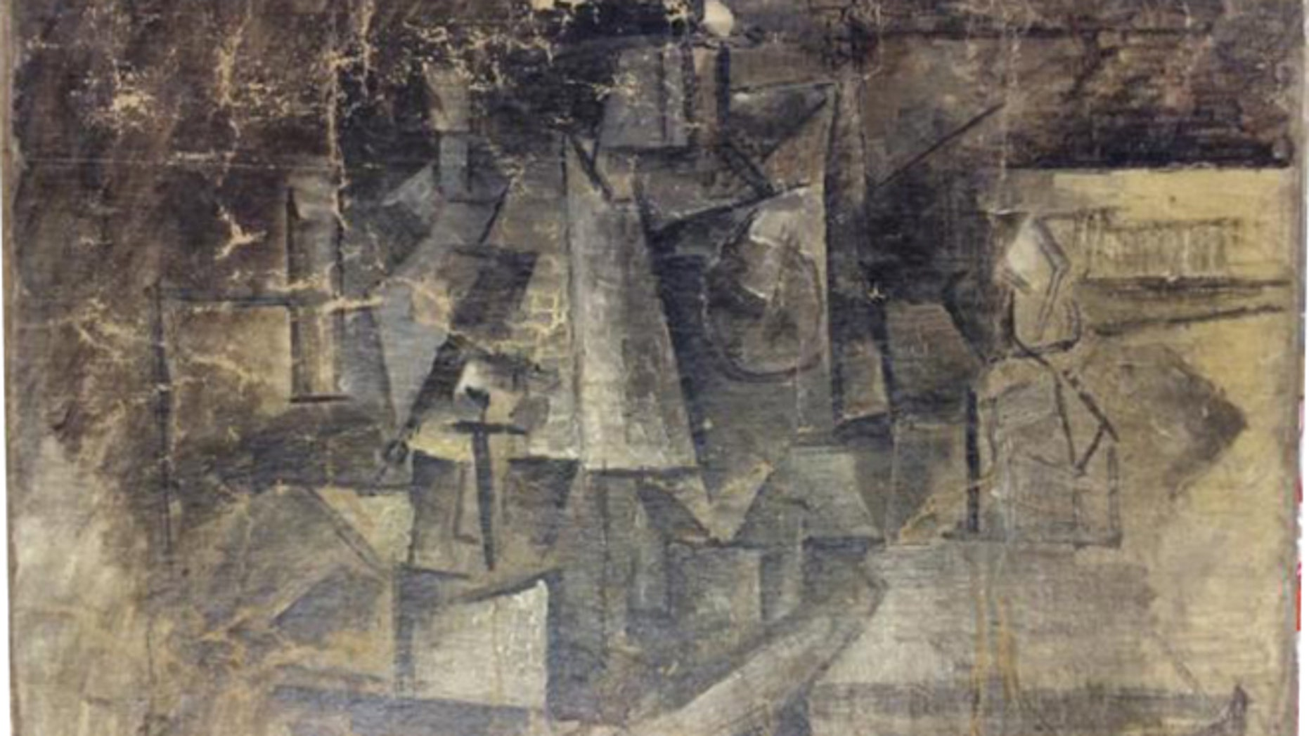 "This undated photo provided by the United States Department of Justice, shows a cubist painting entitled The Hairdresser by Pablo Picasso. Authorities say the painting worth millions of dollars was stolen in France and smuggled into the U.S. by someone who falsely labeled it as an ""art craft"" worth about $37 when it was shipped. U.S. Attorney for the Eastern District of New York Loretta Lynch filed a civil forfeiture complaint Thursday, Feb. 26, 2015, over the  painting. (AP Photo/U.S Department of Justice)"