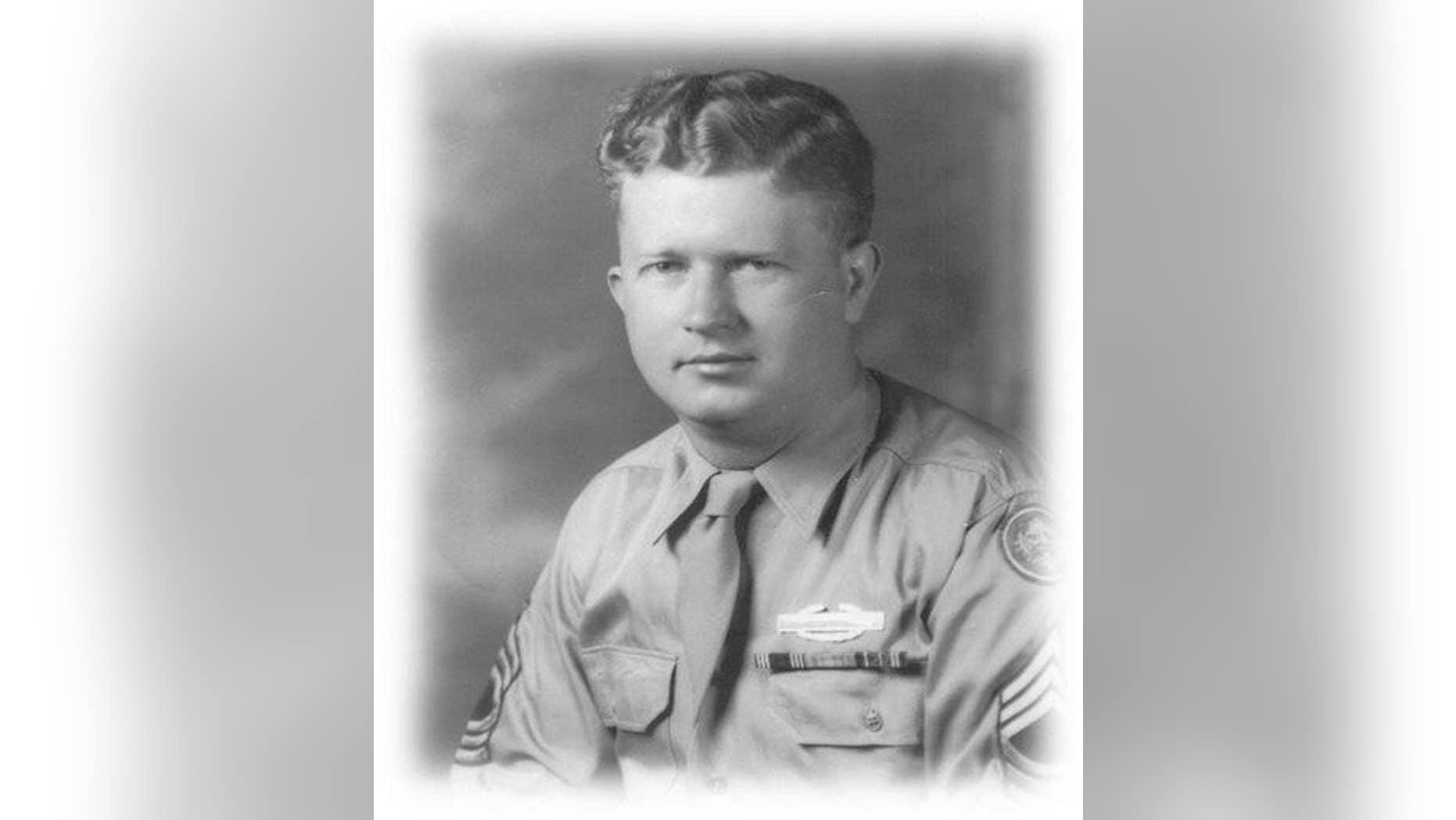 This undated photograph shows World War II, United States Army Master Sgt. Roddie Edmonds.
