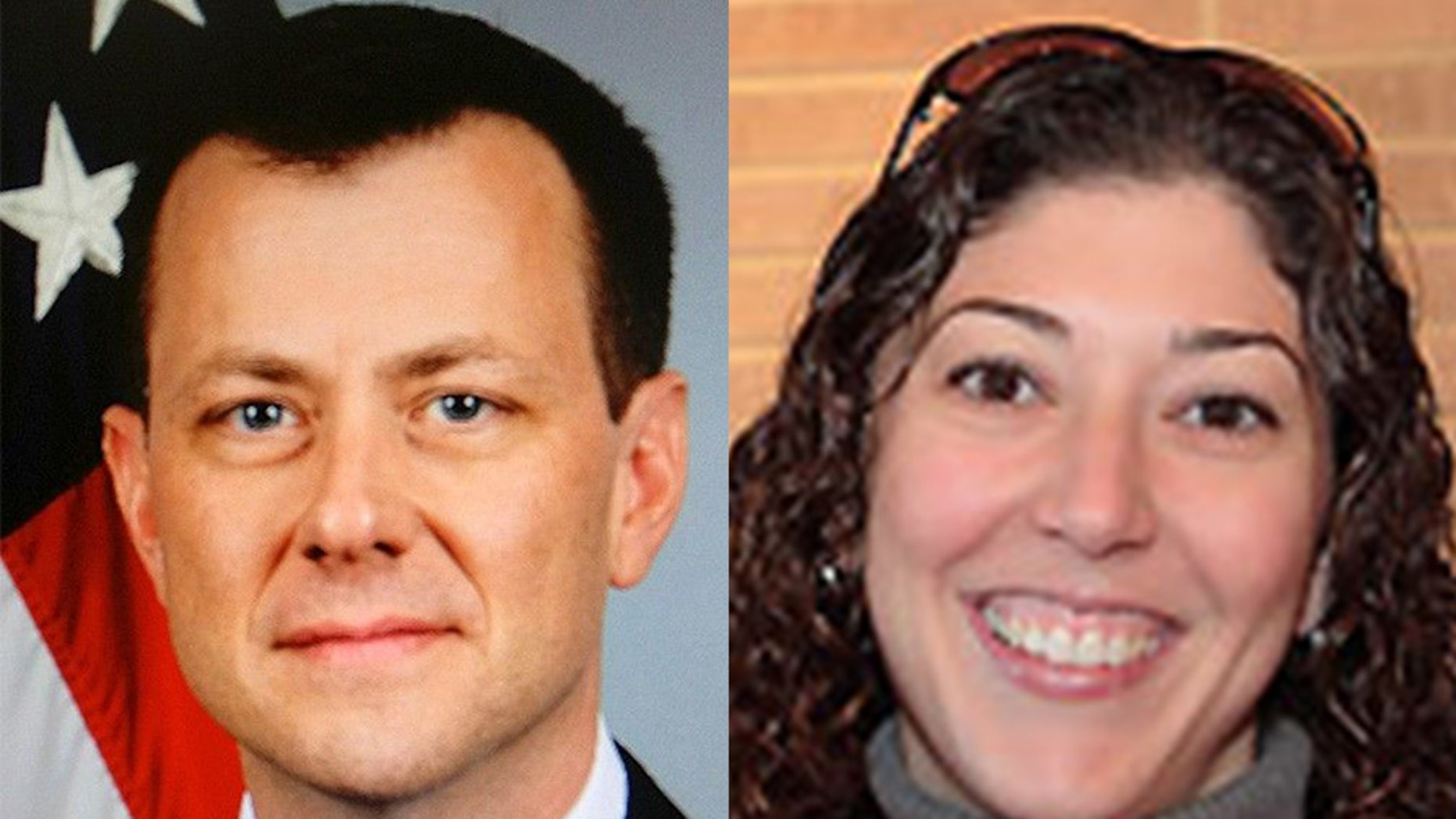 FBI officials Peter Strzok, left, and Lisa Page, right, exchanged more than 50,000 text messages during the 2016 presidential election.