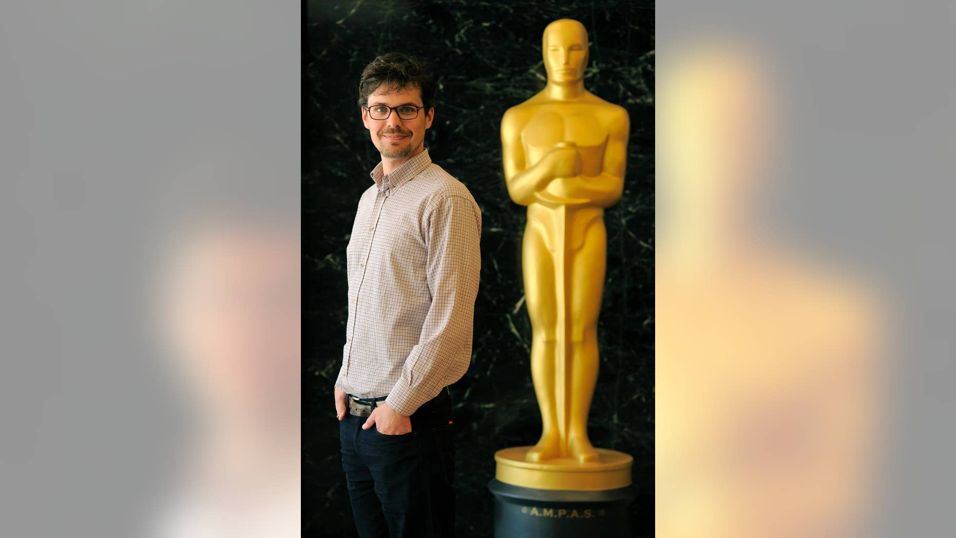 "Peter Baumann of The Northern Film School in the United Kingdom, a Student Academy Award winner in the Foreign Category for his film """"Border Patrol,"" poses for a portrait at the Academy of Motion Picture Arts and Sciences on Tuesday, June 3, 2014 in Los Angeles. The 41st Student Academy Awards ceremony will be held at the DGA Theater on Saturday, June 7, 2014, in Los Angeles. (Photo by Chris Pizzello/Invision/AP)"