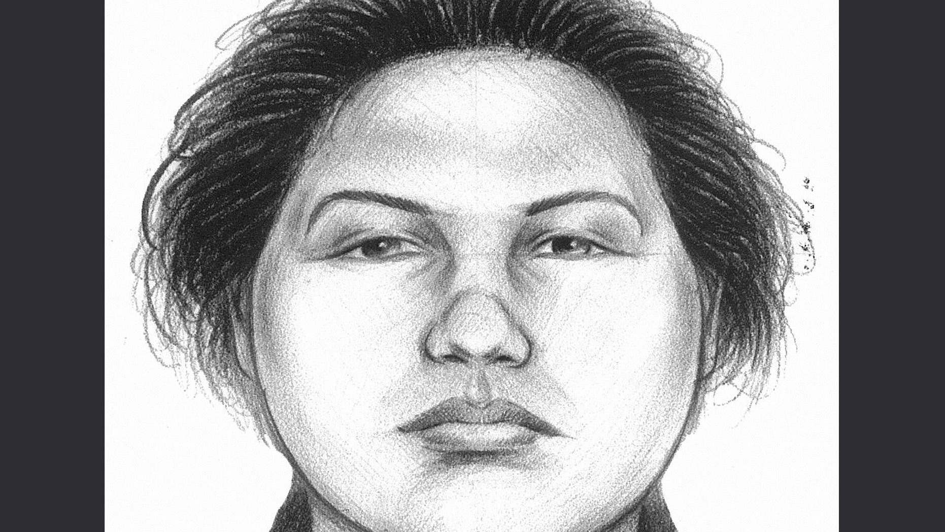 In this image provided by the New York City Police Department, a composite sketch showing the woman believed to have pushed a man to his death in front of a subway train on Thursday, Dec. 27, 2012 is shown.(AP Photo/New York City Police Department)