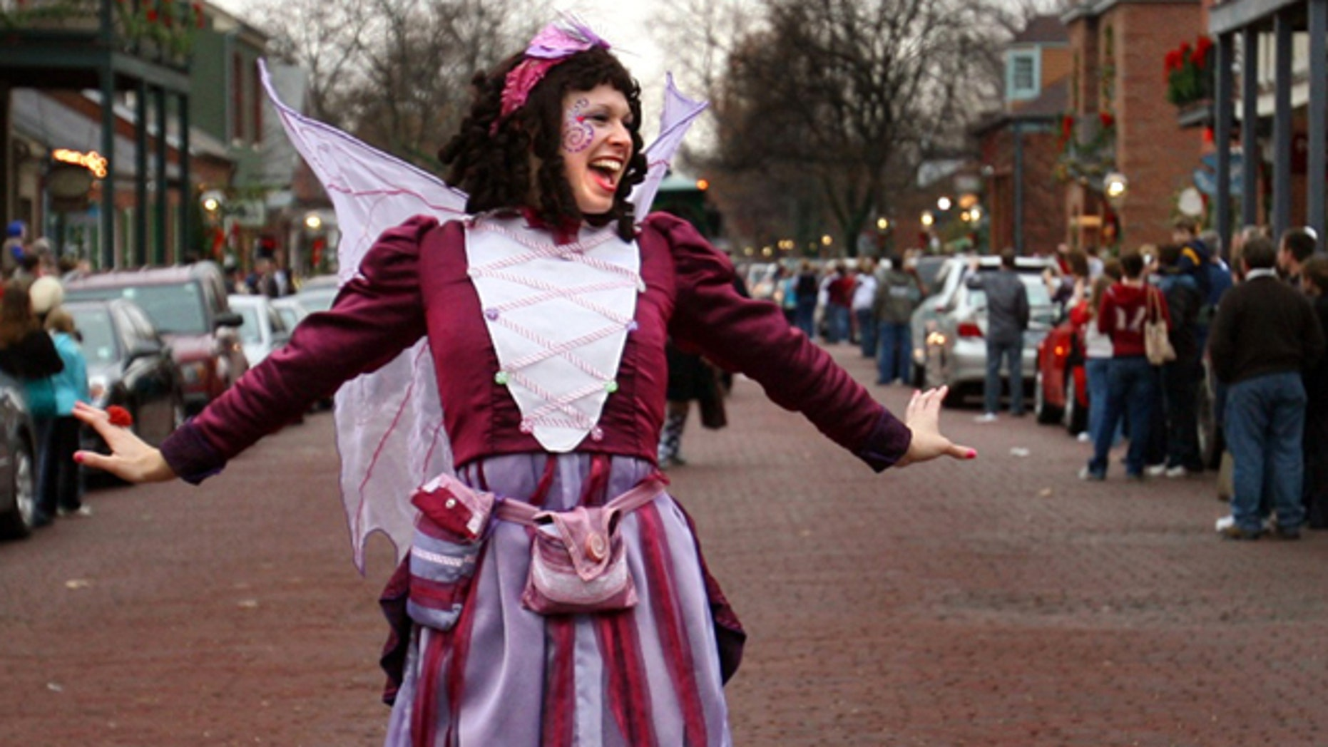 Nov. 29, 2009: Actress Laura Coppinger portrays the Sugar Plum Fairy during St. Charles, Mo.'s annual Christmas festival.