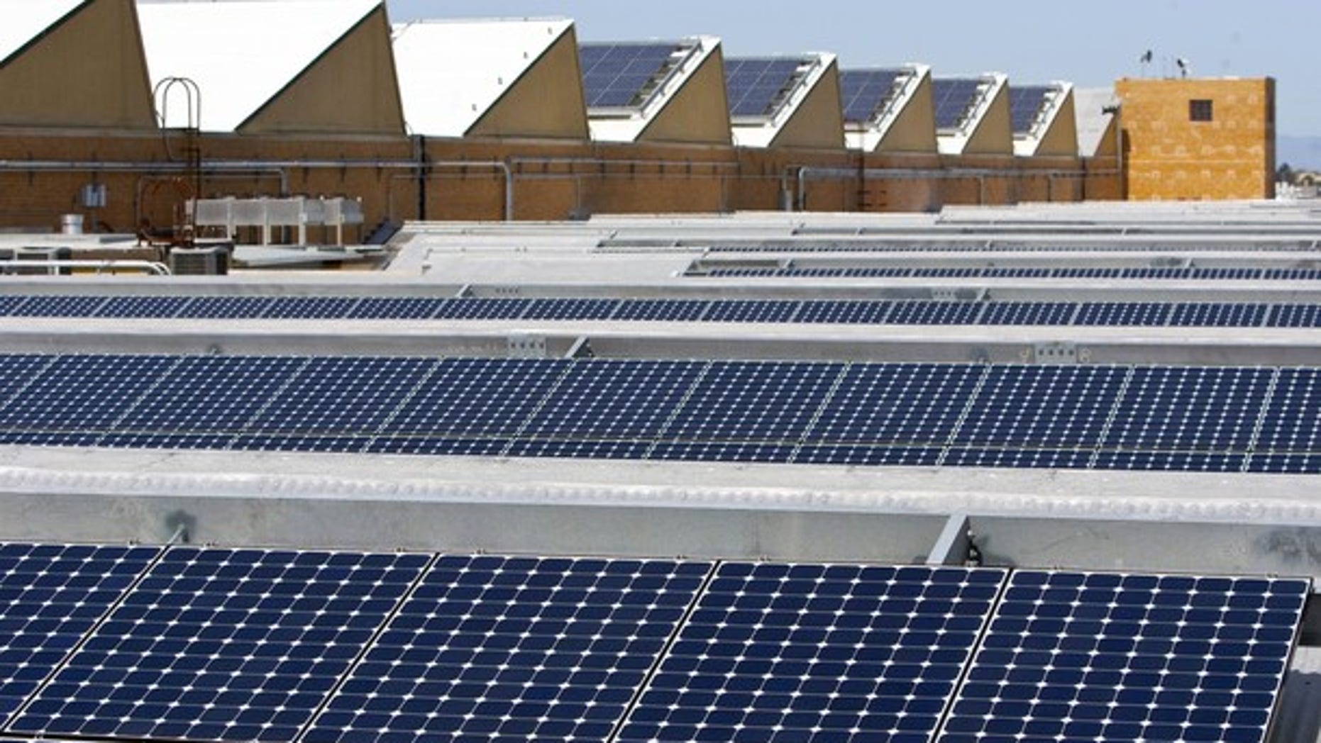 Solar panels sit on the roof of SunPower Corporation in Richmond, California, in this file picture taken March 18, 2010.