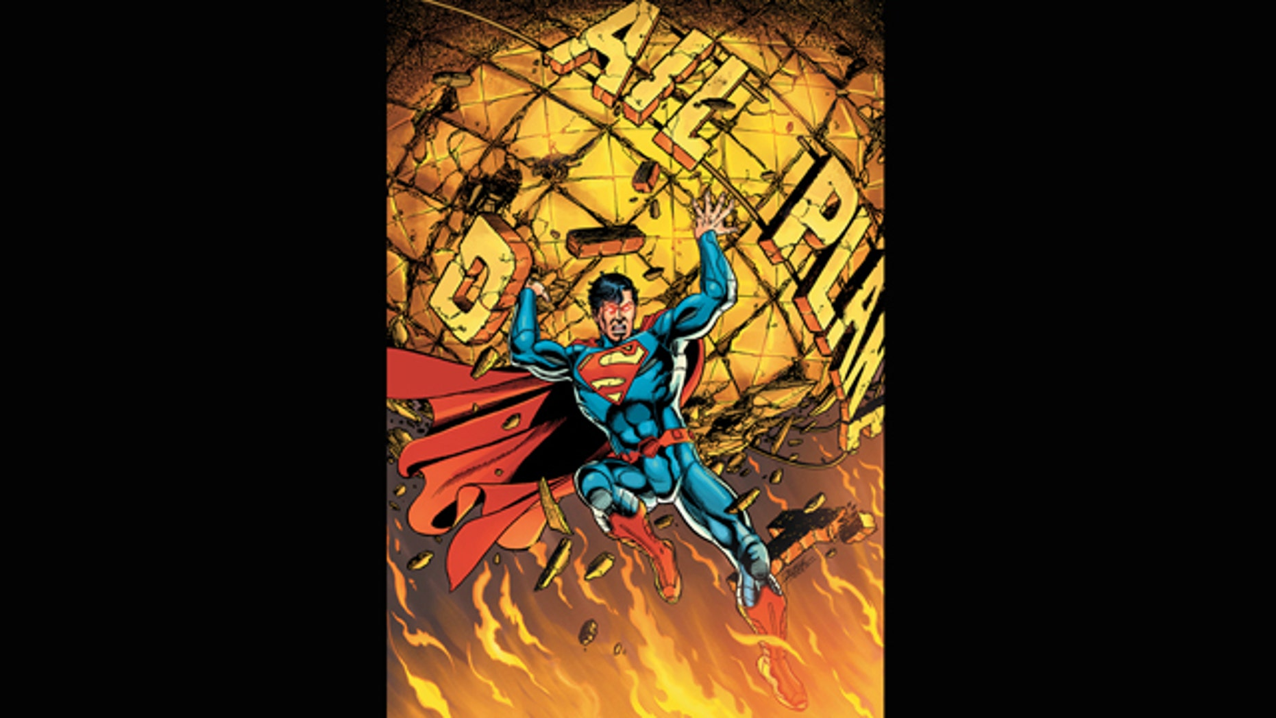"""FILE - In this comic book image released by DC Comics, the cover of """"Superman"""" No. 1, is shown from last years """"New 52"""" relaunch."""