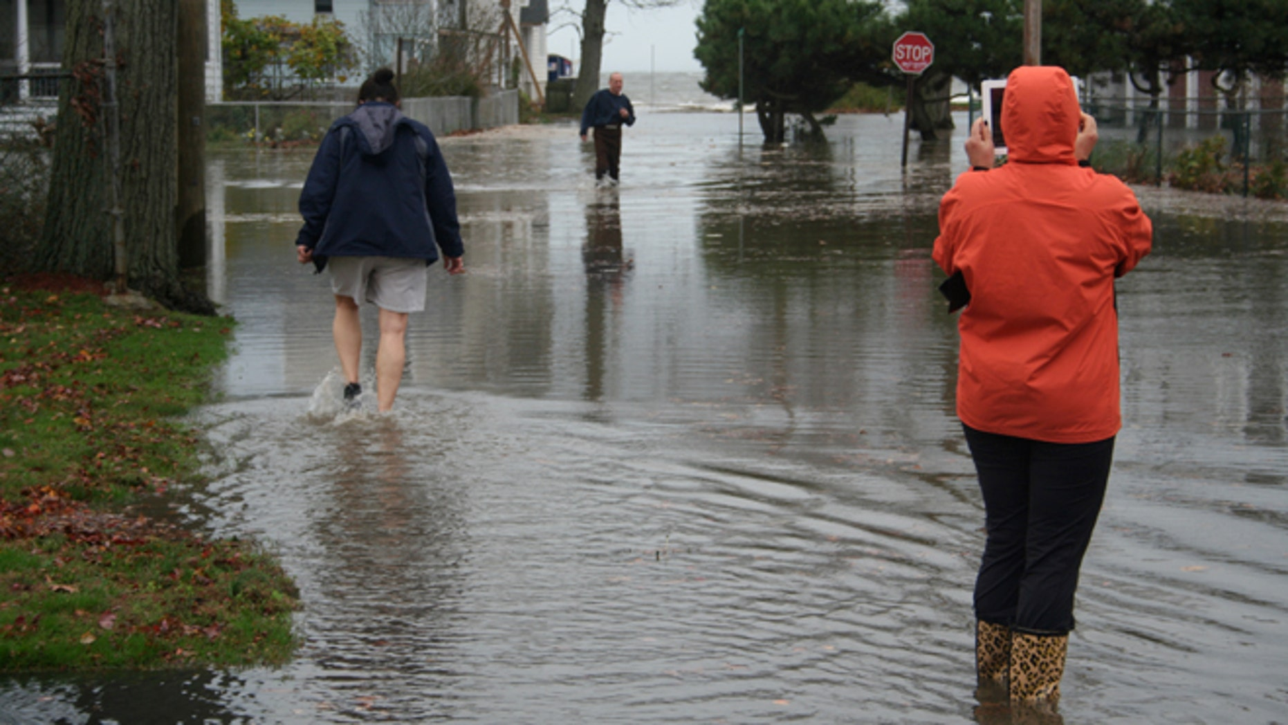 Oct. 29, 2012: Hurricane Sandy floods the Wildemere Beach section of Milford, Conn.