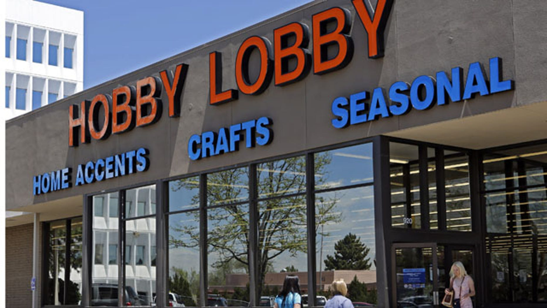 FILE - This May 22, 2013 file photo shows a Hobby Lobby store in Denver. (AP Photo)