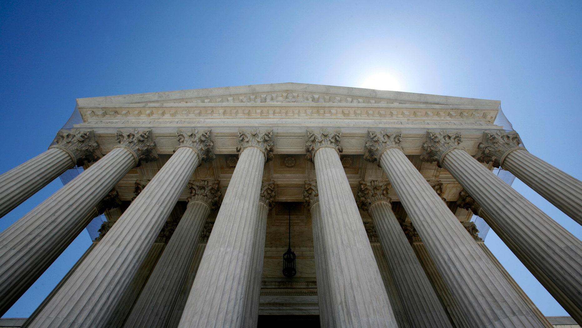The U.S. Supreme Court building seen in Washington.