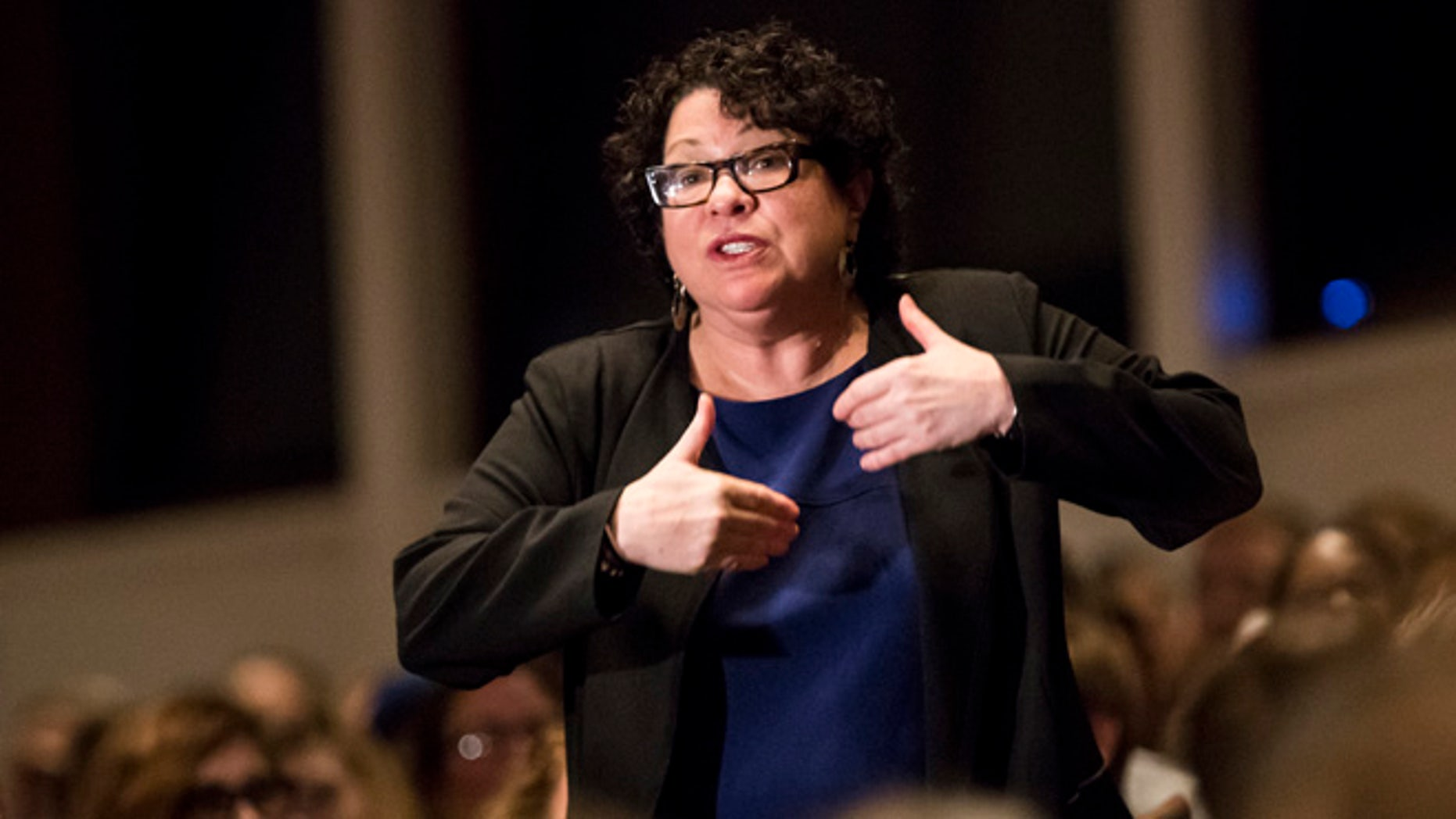 Supreme Court Justice Sonia Sotomayor on Monday, Oct. 17, 2016, in Minneapolis.