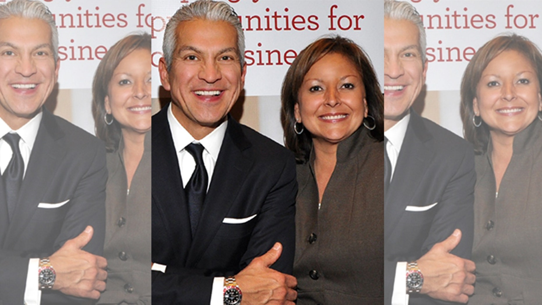 CEO and President of the U.S. Hispanic Chamber of Commerce Javier Palomarez and New Mexico Governor Susana Martinez.