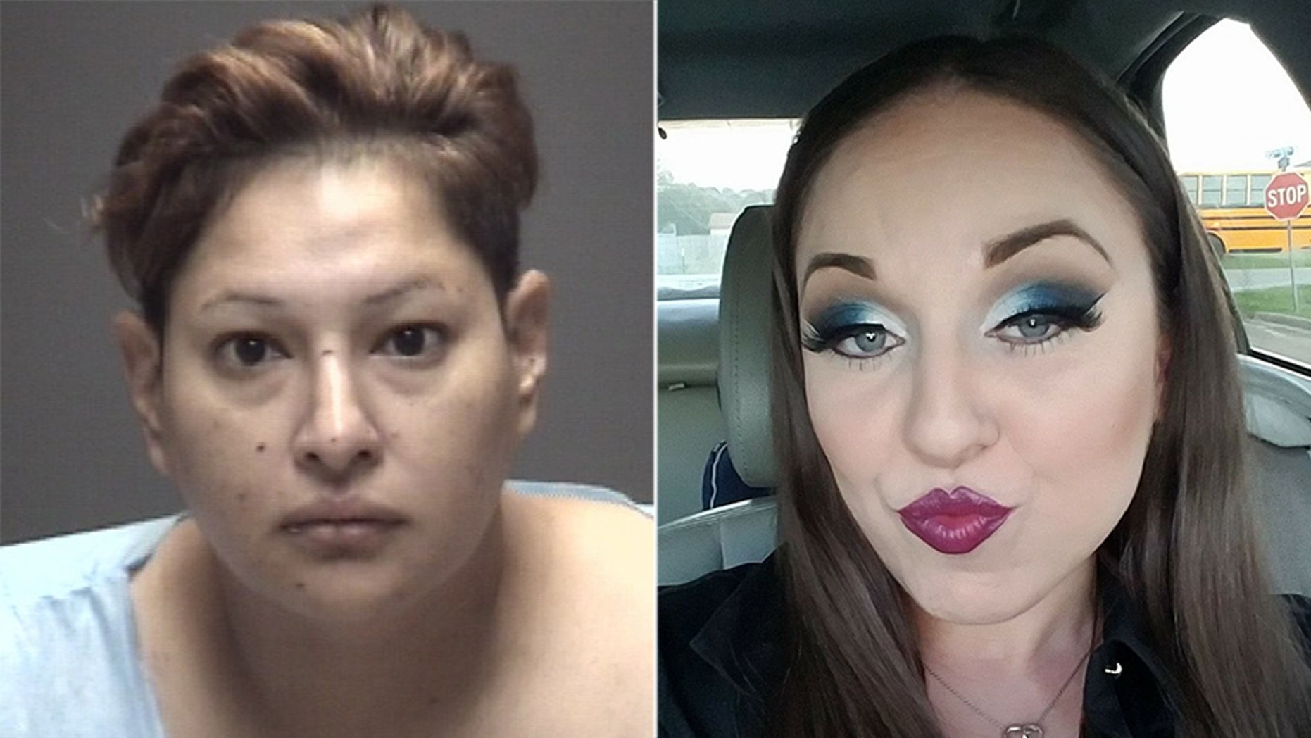 Amy Medina, 37, left, is accused of killing her former friend Lucy Bertrand, 33.