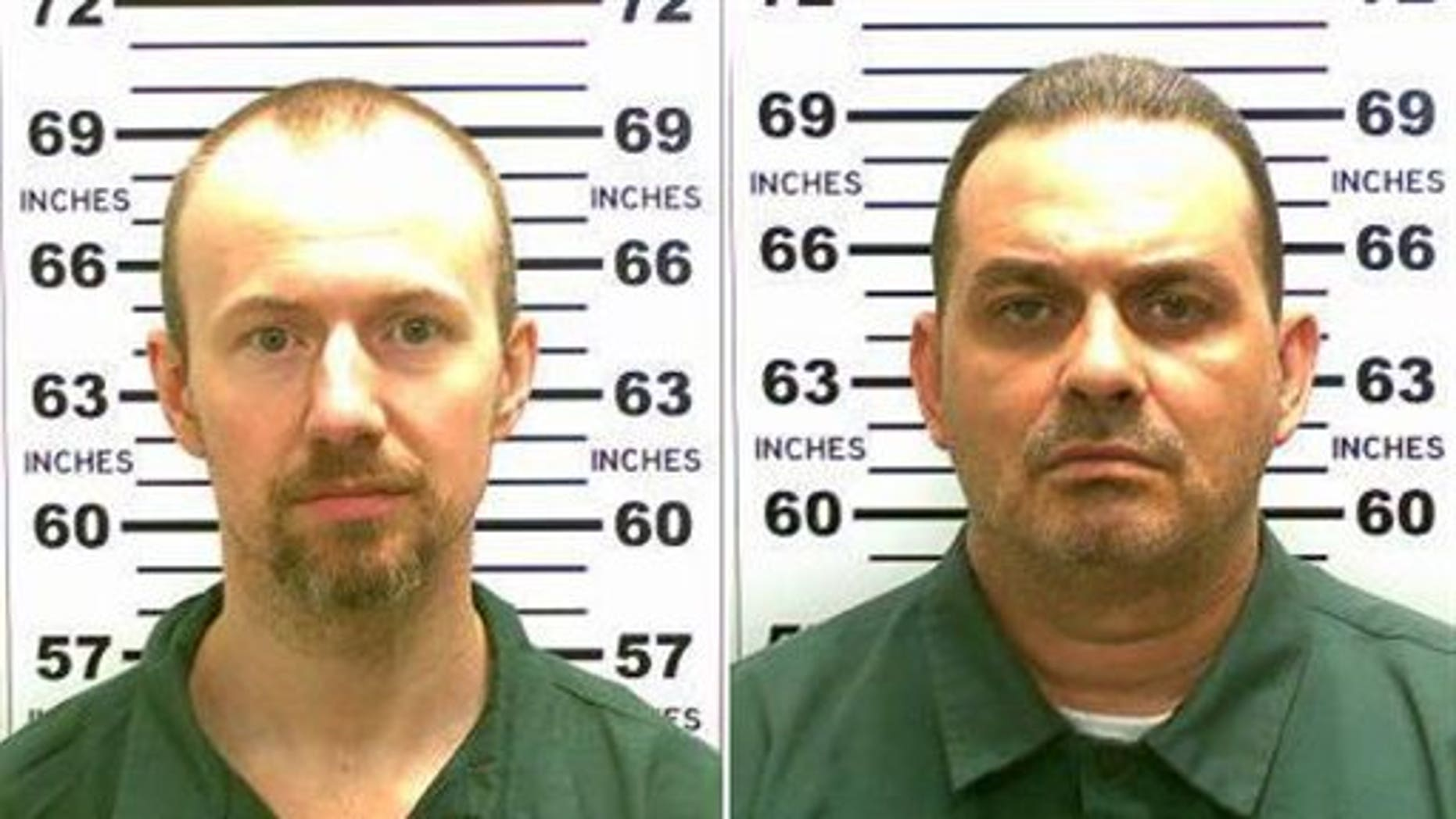 Richard Matt (right) and David Sweat. The two homicidal inmates famously broke out of prison in 2015.