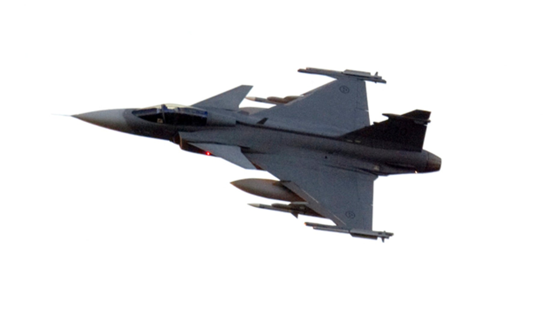 A Swedish JAS 39C Gripen fighter jet in a 2011 file photo.