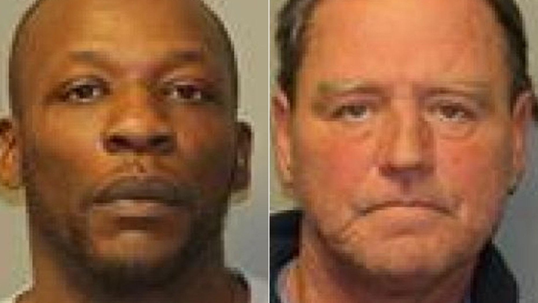 Police say Malcom Sidbury, left, was charged with driving while ability impaired by drugs after he called police on Thomas Robbins, who allegedly had a blood-alcohol level of .25 percent.
