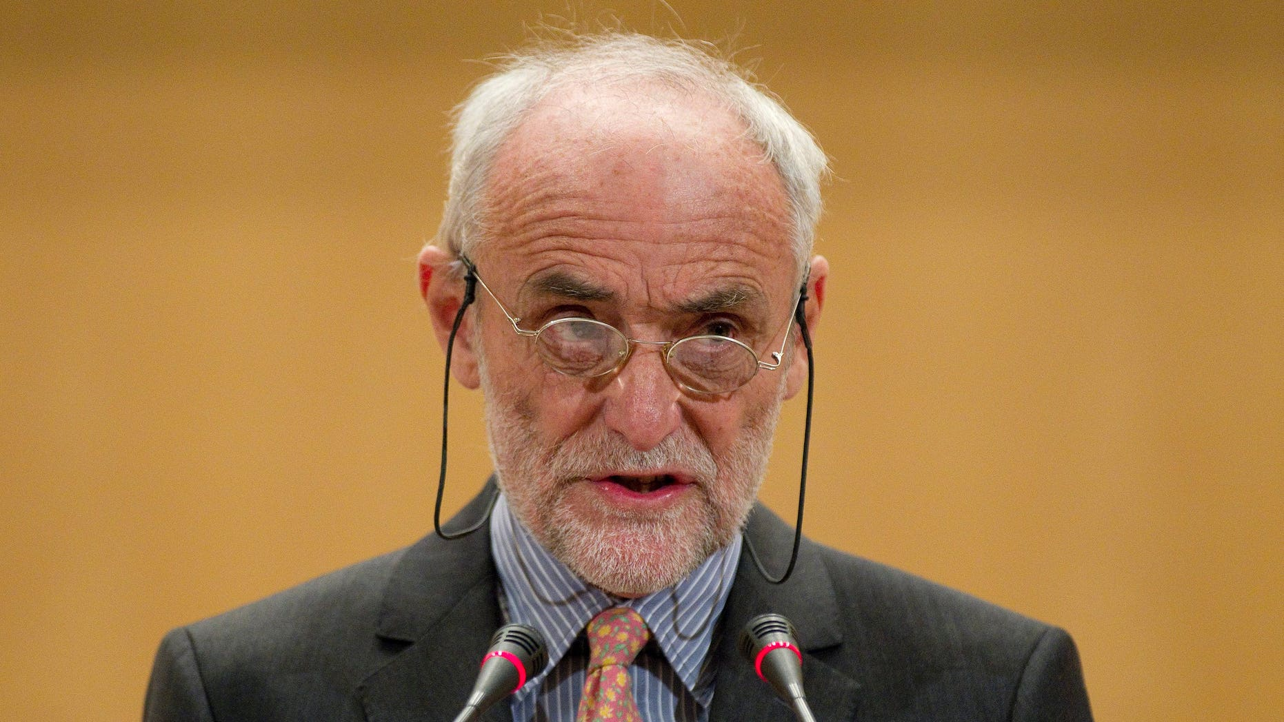 Nov. 29: Jakob Kellenberger, president of the International Committee of the Red Cross, speaks in Geneva.
