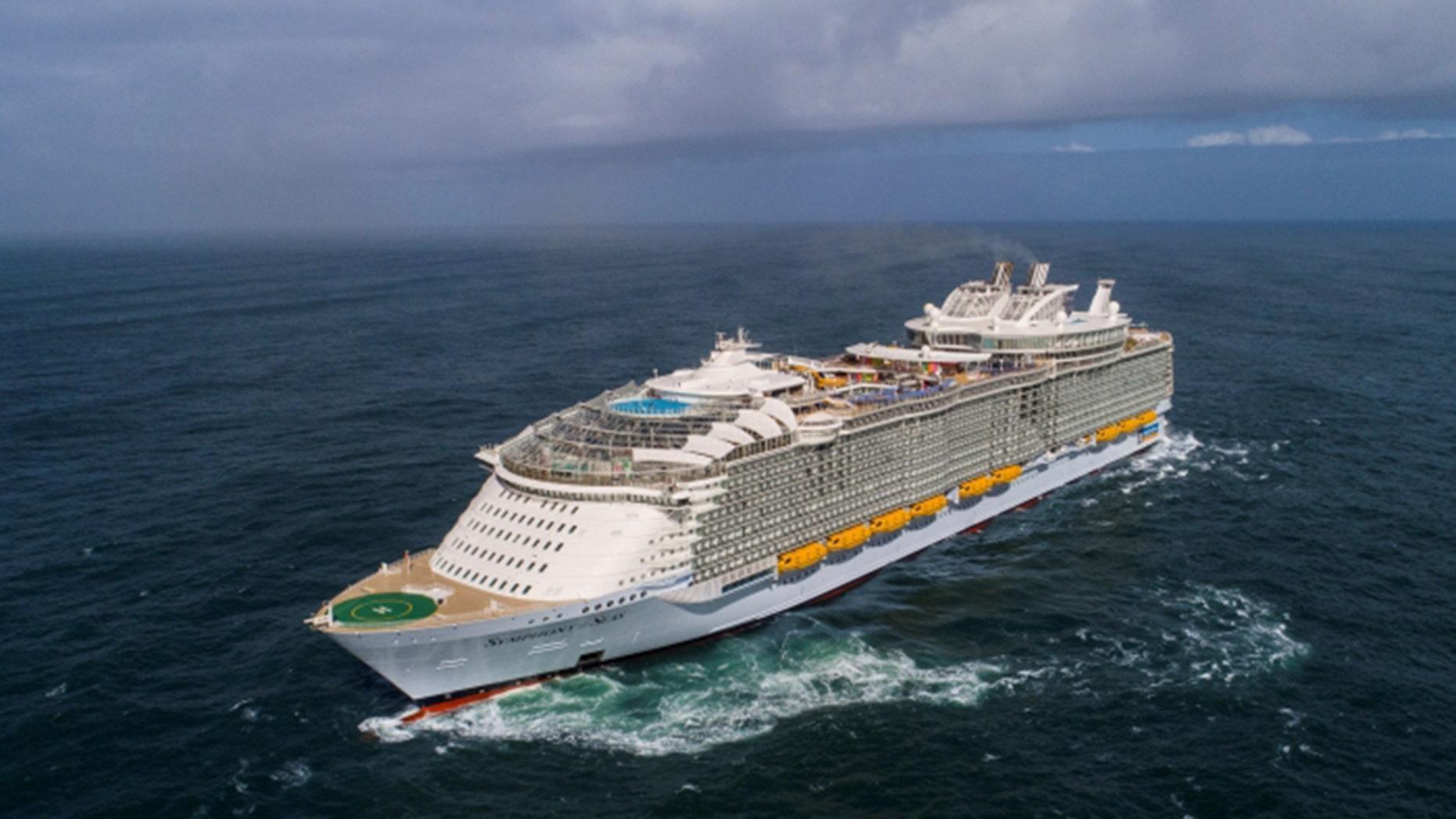 World S New Largest Cruise Ship Sets Sail Fox News