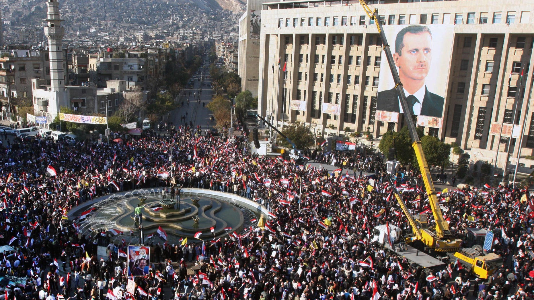 Dec. 6: Protesters in the Streets Of Damascus
